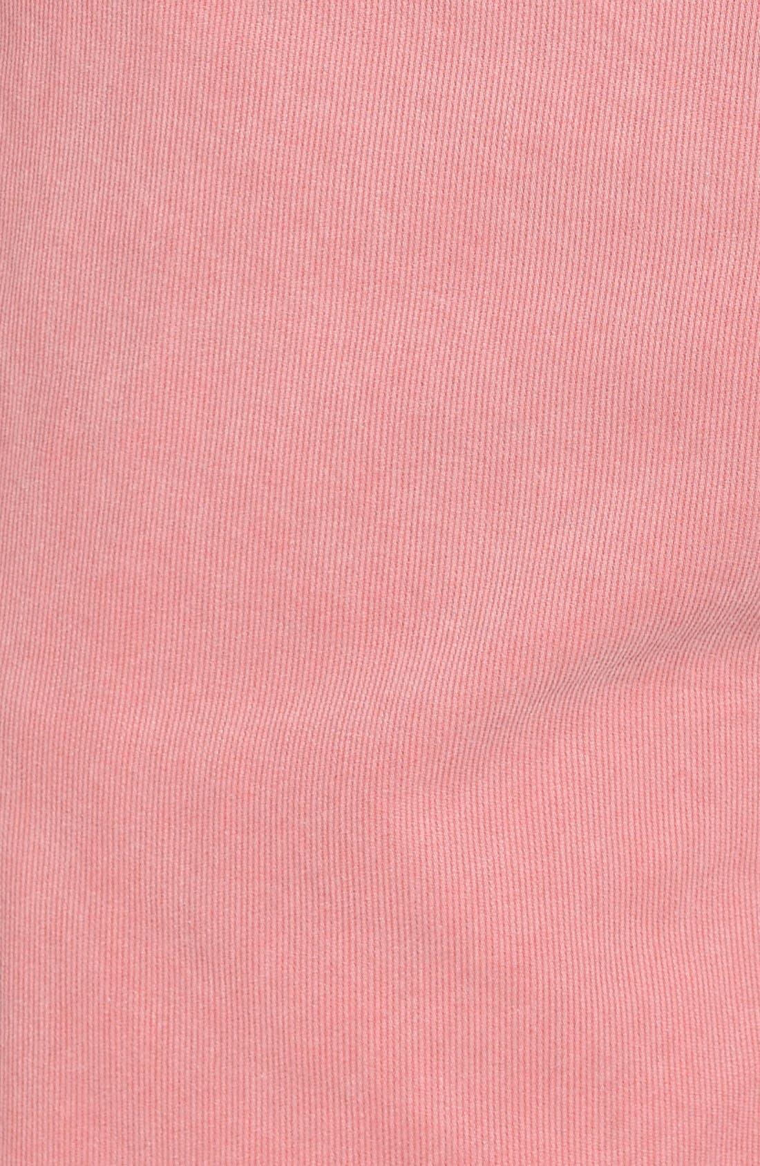 'St. Barts' Raw Edge Shorts,                             Alternate thumbnail 5, color,                             Cranberry