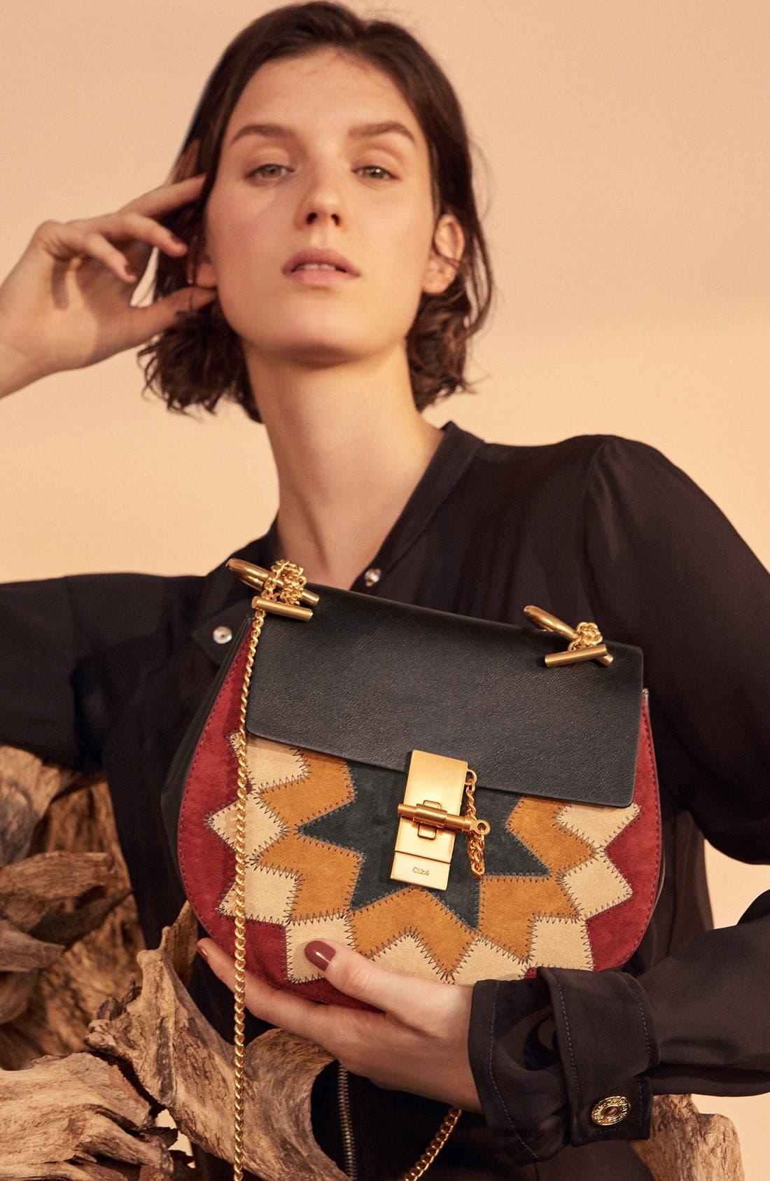 Alternate Image 7  - Chloé 'Small Drew' Wonder Woman Patchwork Suede & Leather Shoulder Bag