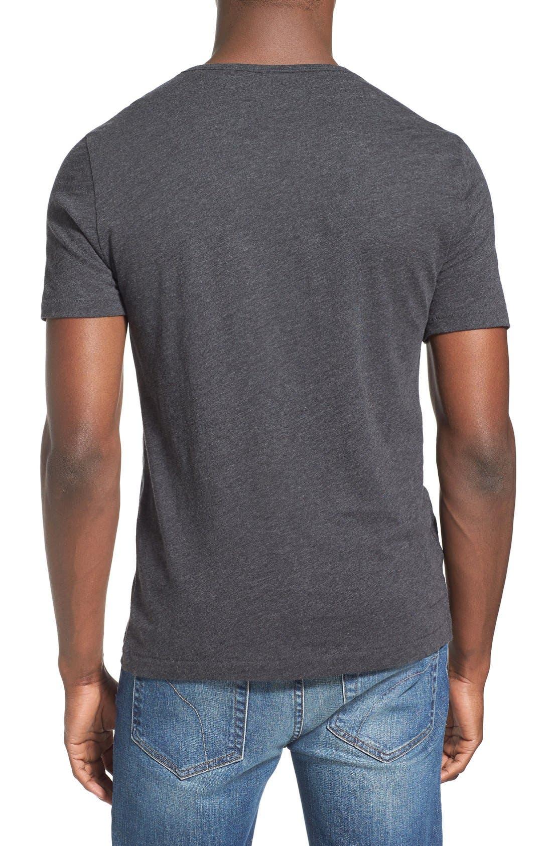 'Bing' V-Neck Pocket T-Shirt,                             Alternate thumbnail 2, color,                             Dark Charcoal Heather