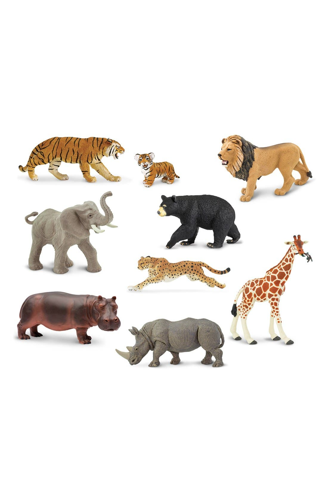 Main Image - Safari Ltd. Wildlife Figurines (Set of 9)