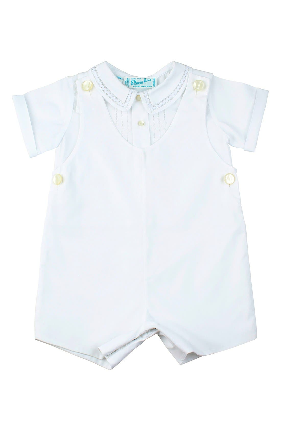 Feltman Bros Lace Detail Shirt & Romper Set (Baby Boys)