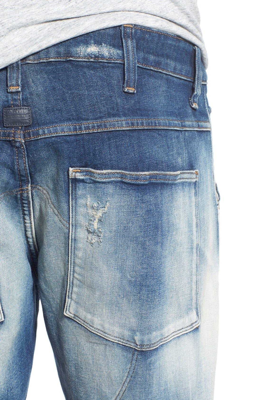 Alternate Image 4  - G-Star Raw '5620 Type C' Skinny Fit Moto Jeans (Moon Wash Restored)