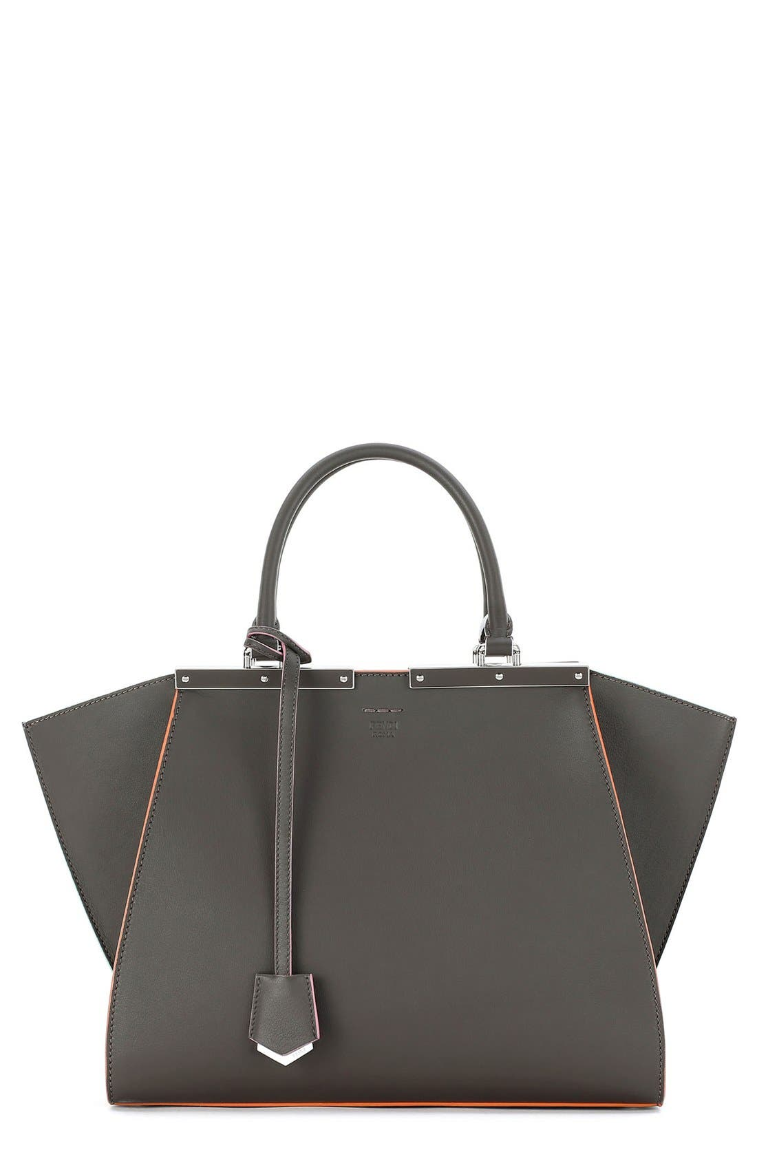 '3Jours' Leather Shopper,                         Main,                         color, Coal/ Palladium