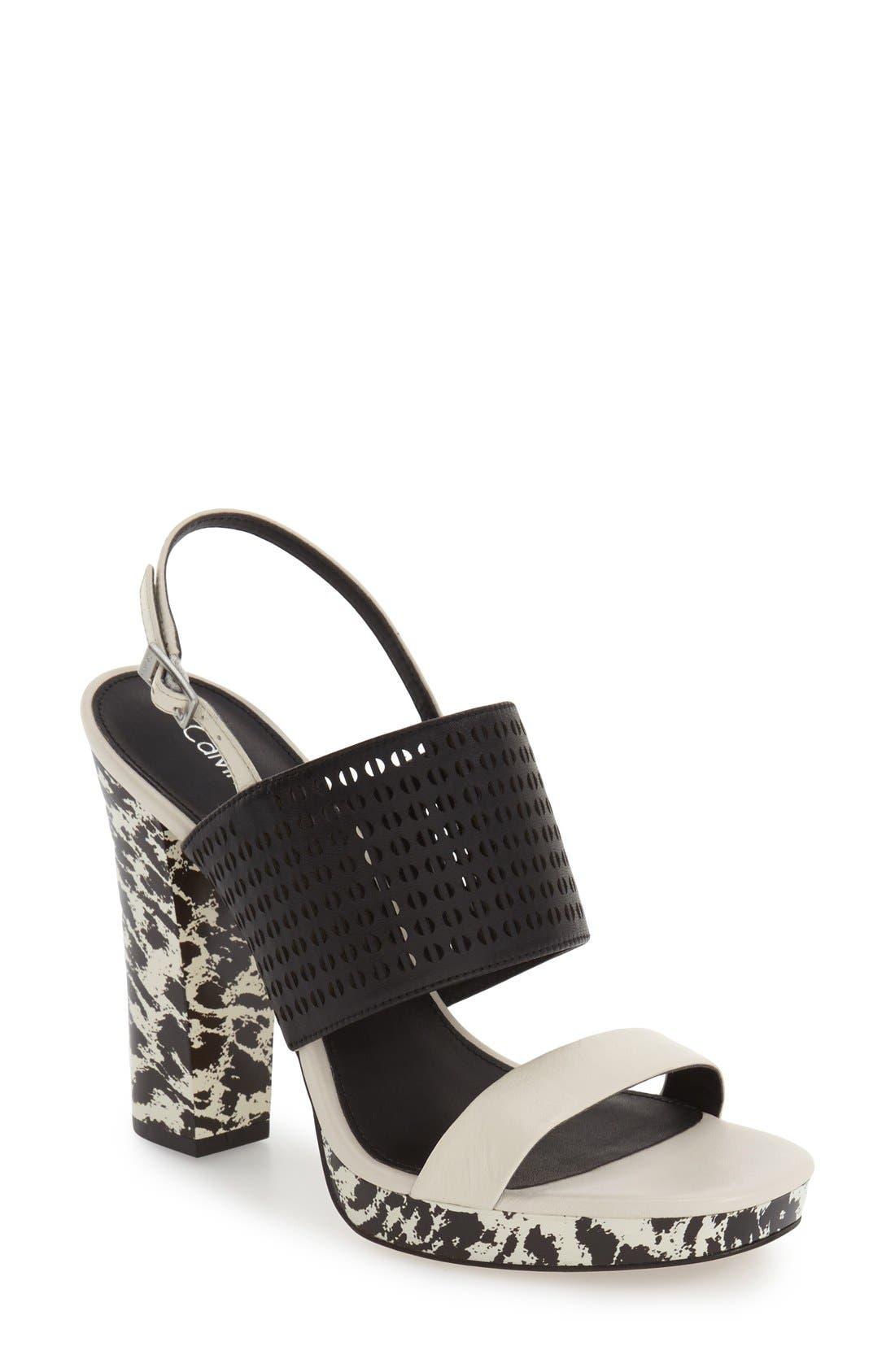 Alternate Image 1 Selected - Calvin Klein 'Breannie' Slingback Platform Sandal (Women)