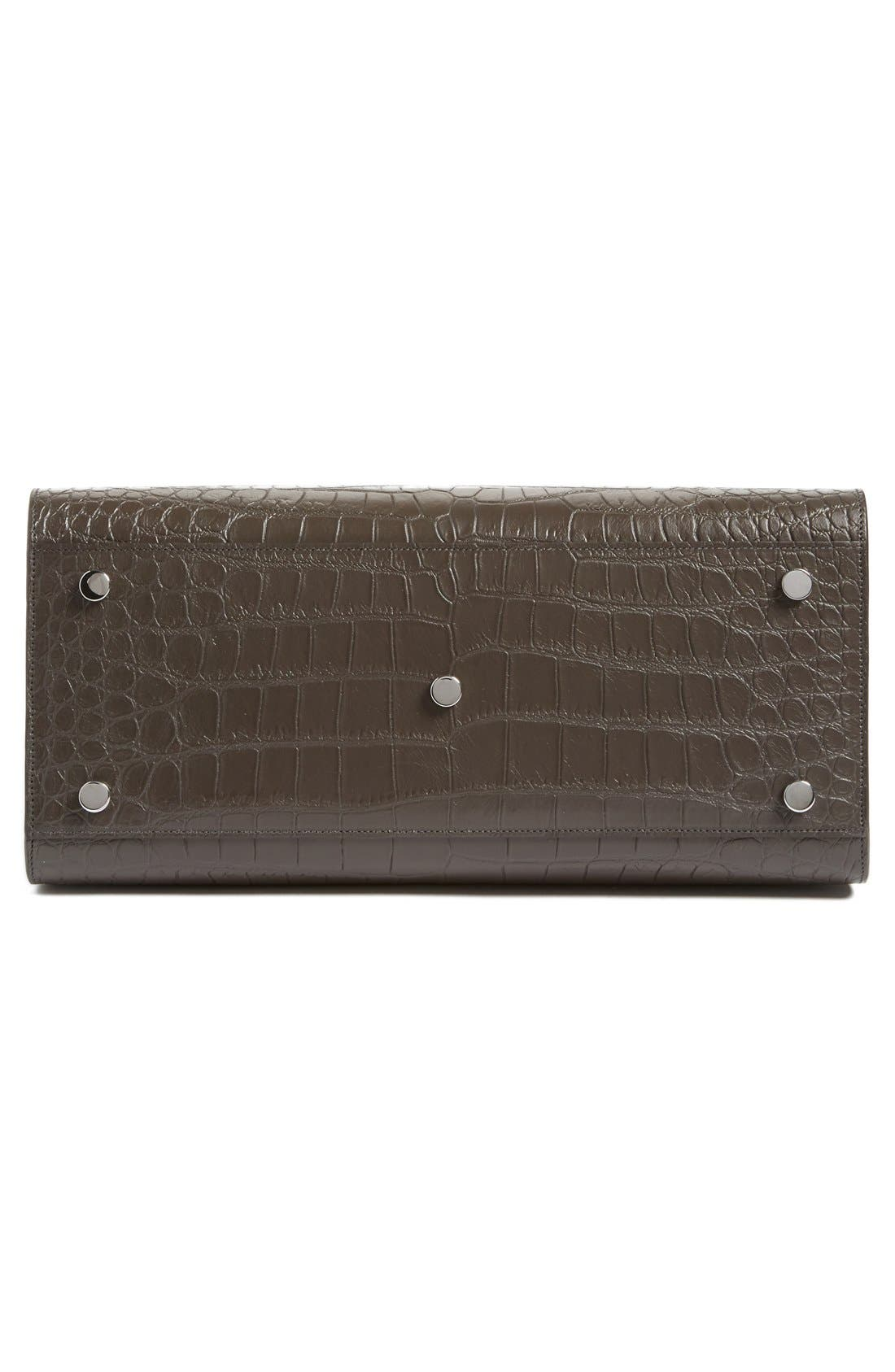 Alternate Image 5  - Saint Laurent 'Small Sac de Jour' Croc Embossed Leather Tote
