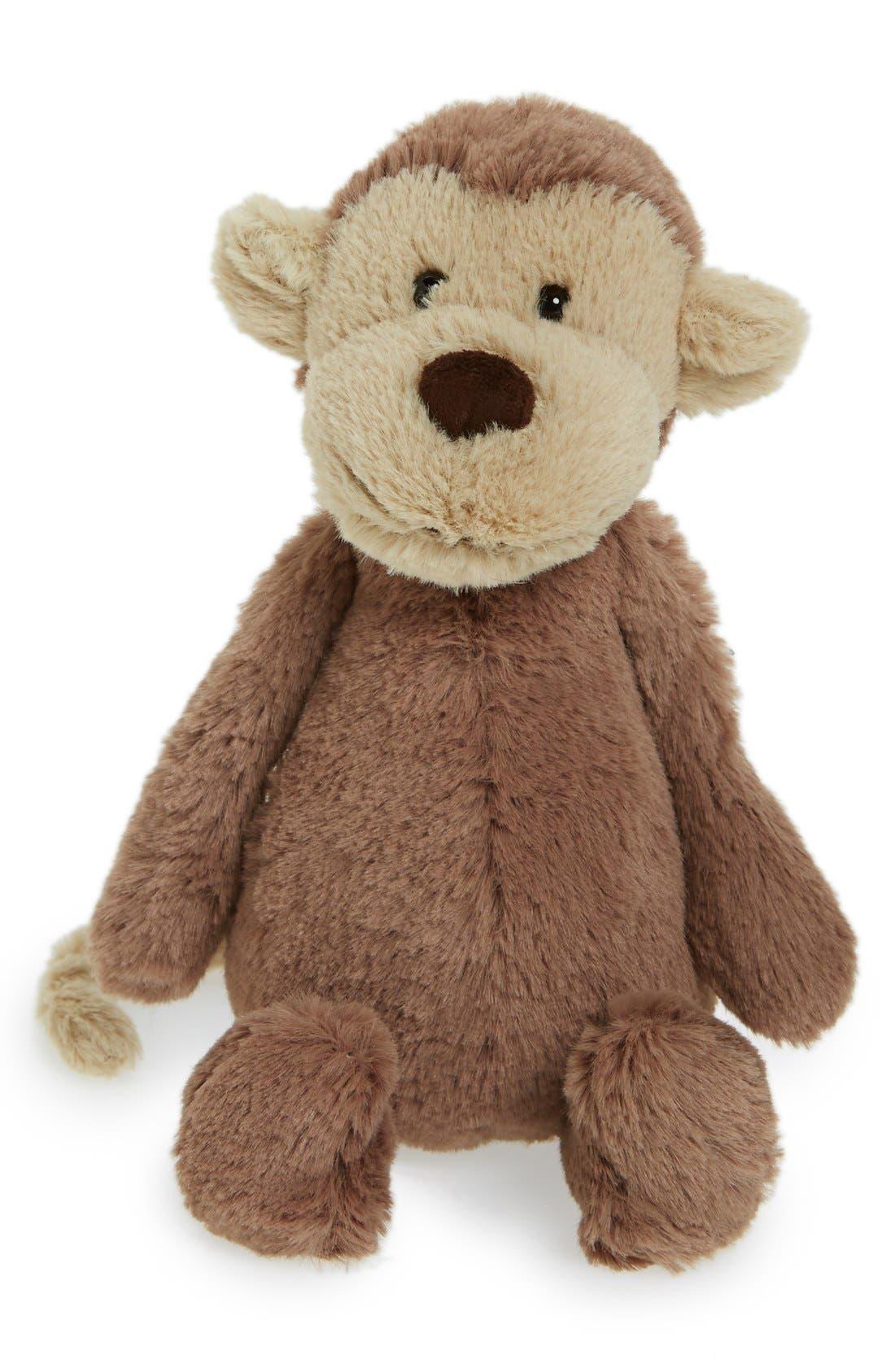 Alternate Image 1 Selected - Jellycat 'Small Bashful Monkey' Stuffed Animal