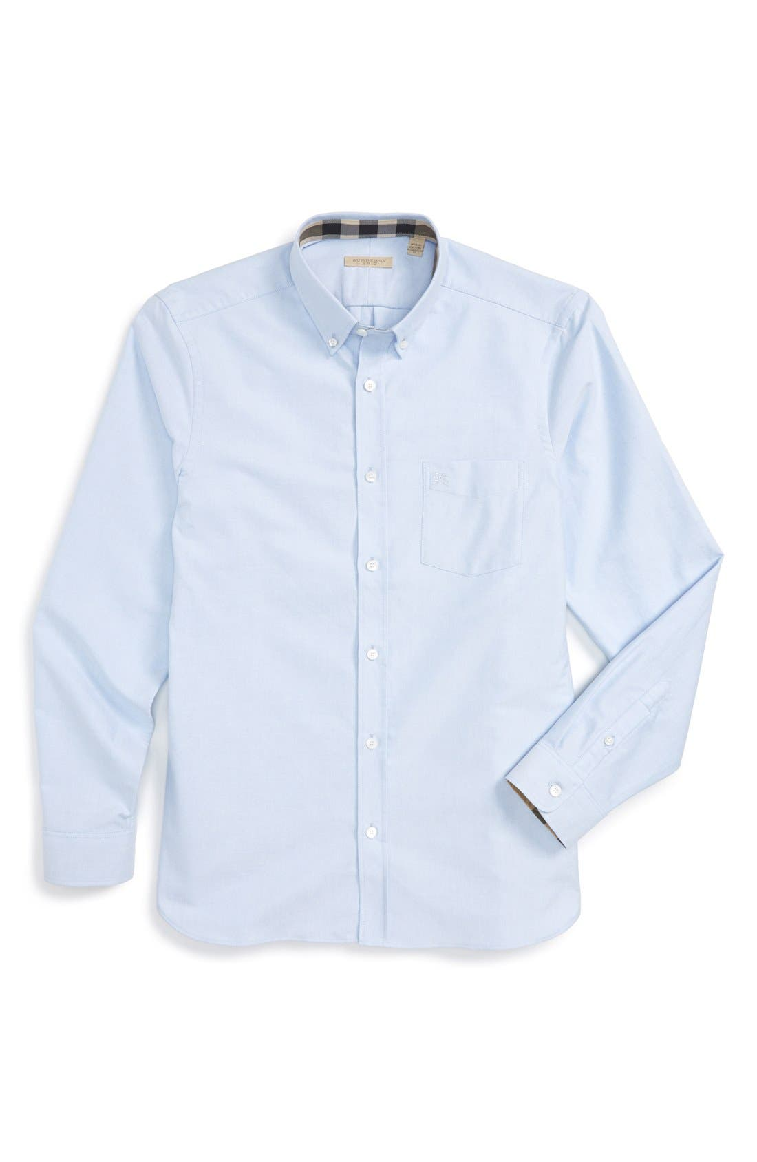 Alternate Image 6  - Burberry 'Reagan' Extra Trim Fit Solid Cotton Sport Shirt