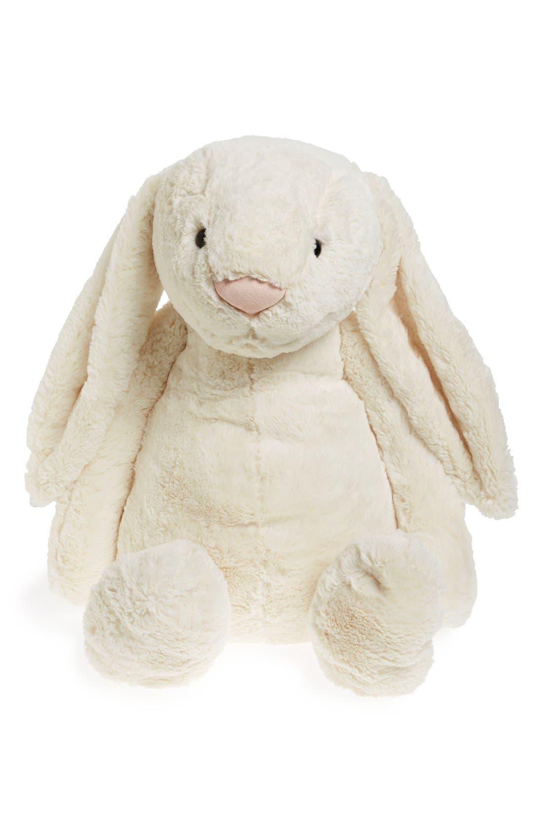 'Really Big Bashful Bunny' Stuffed Animal,                         Main,                         color, Cream