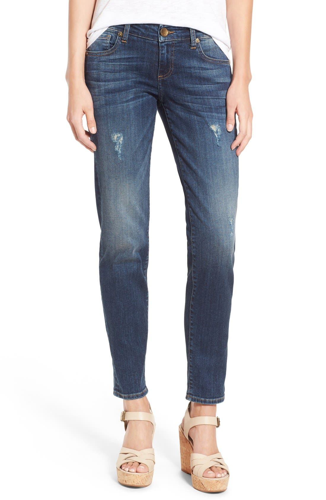 KUT from the Kloth 'Catherine' Distressed Boyfriend Jeans (Allowing) (Regular & Petite)