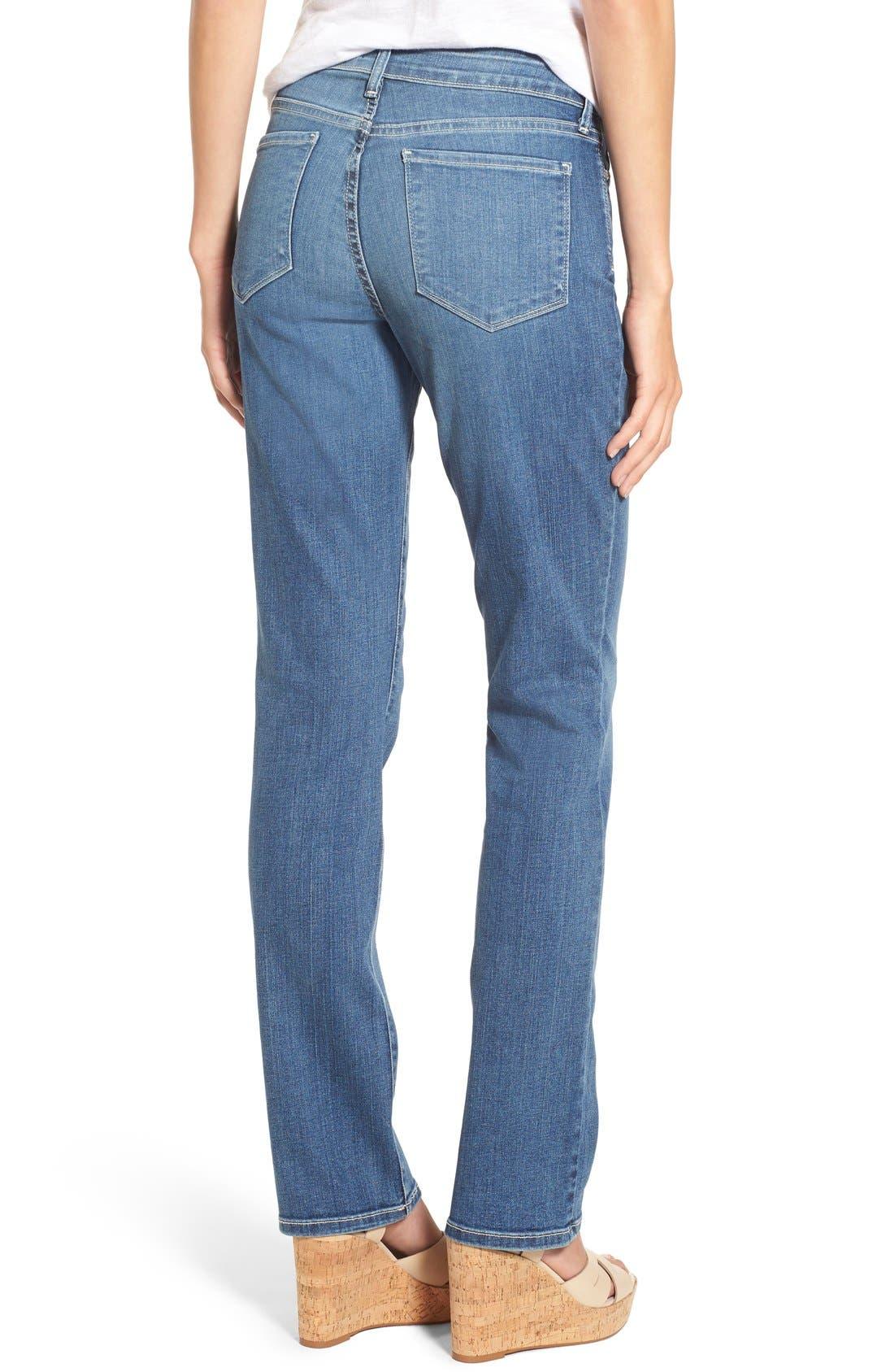 Marilyn Stretch Straight Leg Jeans,                             Alternate thumbnail 2, color,                             Heyburn