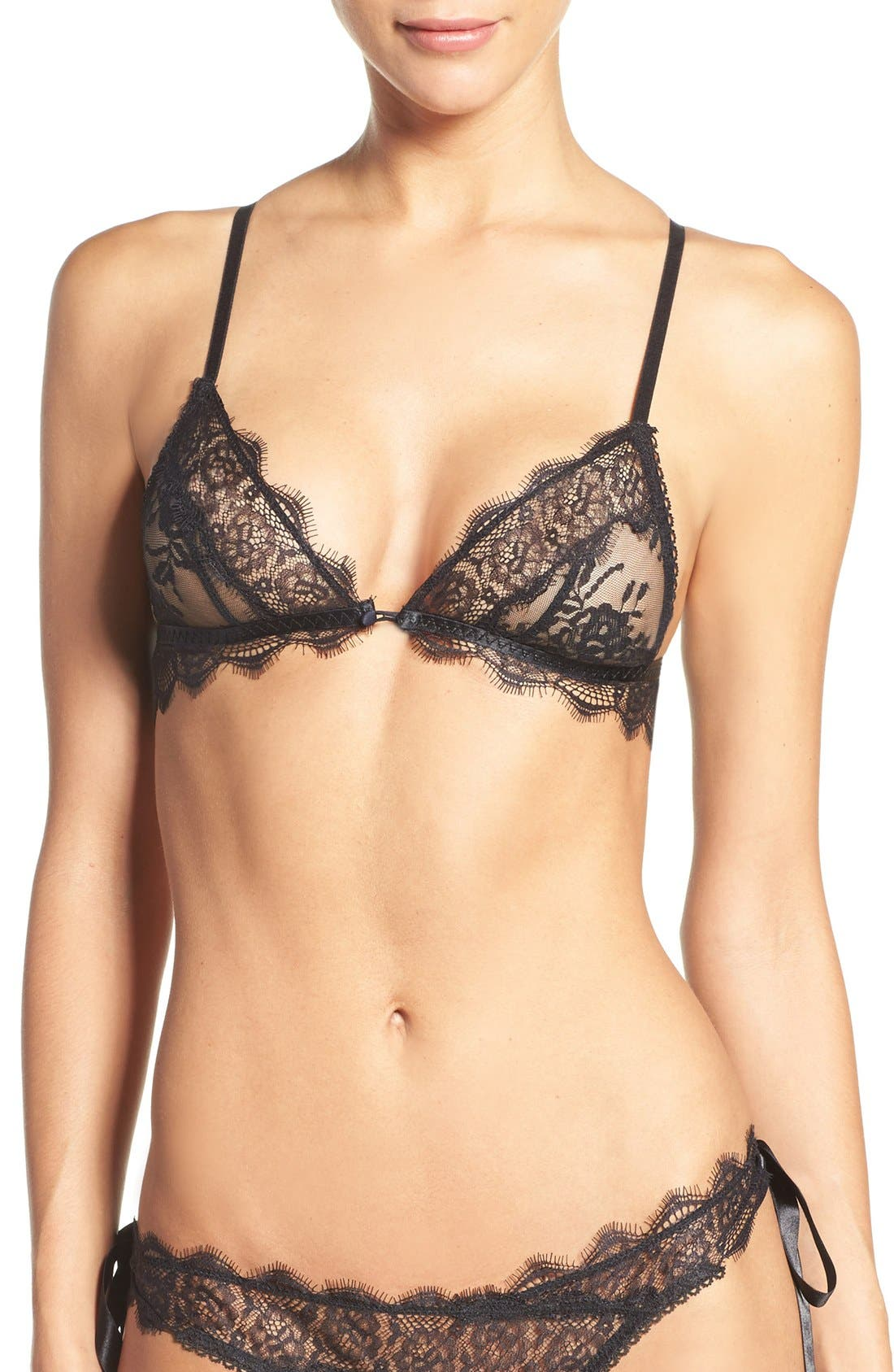 Pleasure State D'Arcy Delatour Lace Triangle Bralette