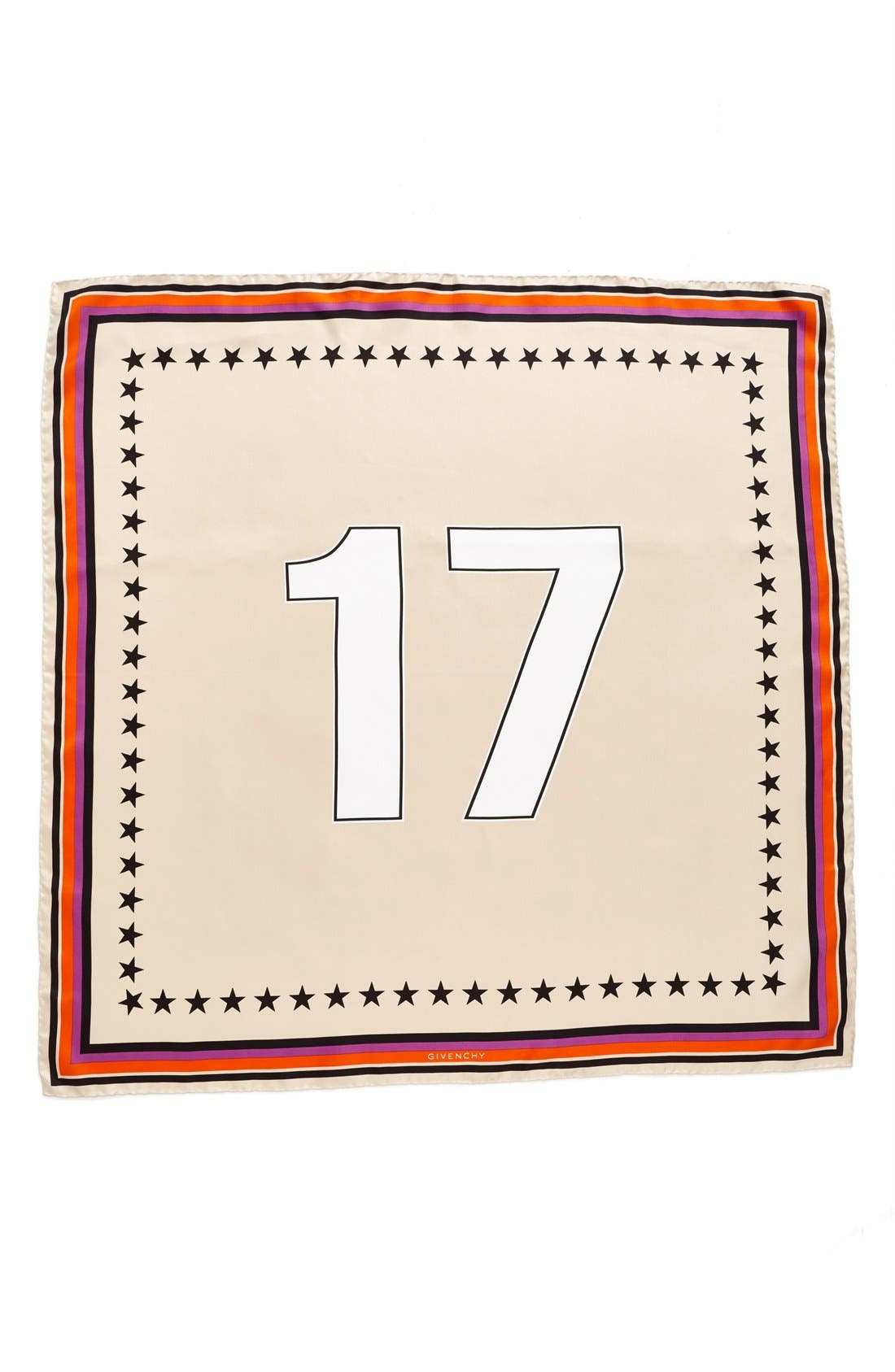 '17' Square Silk Scarf,                             Main thumbnail 1, color,                             Poudre