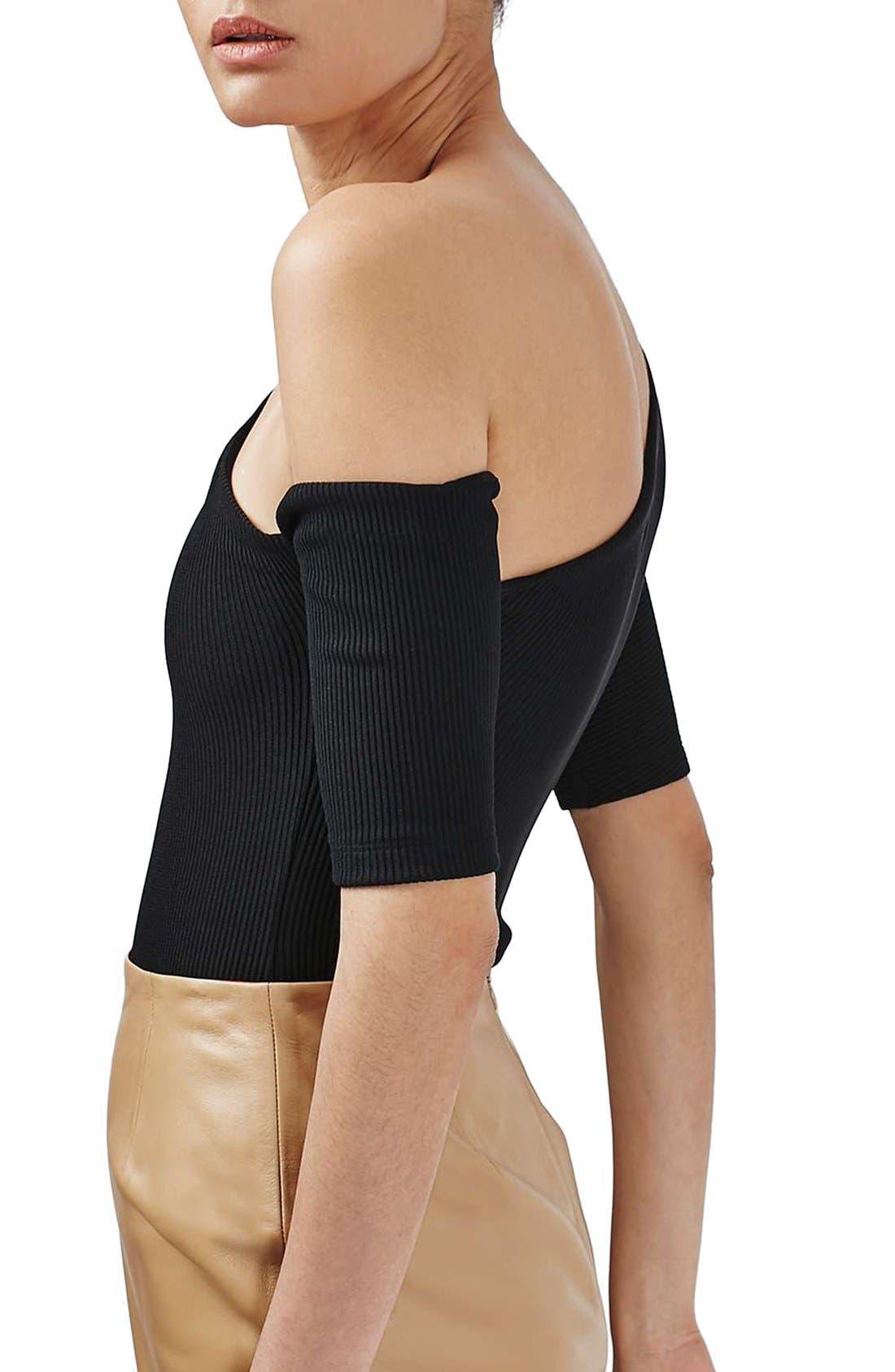Alternate Image 4  - Topshop Boutique Asymmetrical Bodysuit