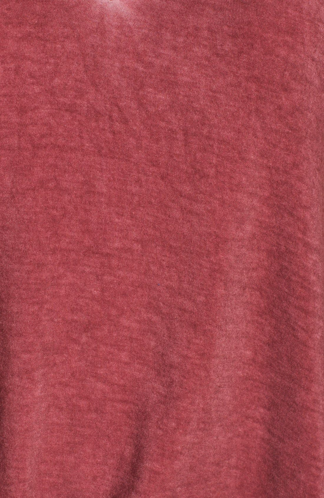 Oil Wash Cutout Tee,                             Alternate thumbnail 6, color,                             Red Cordovan