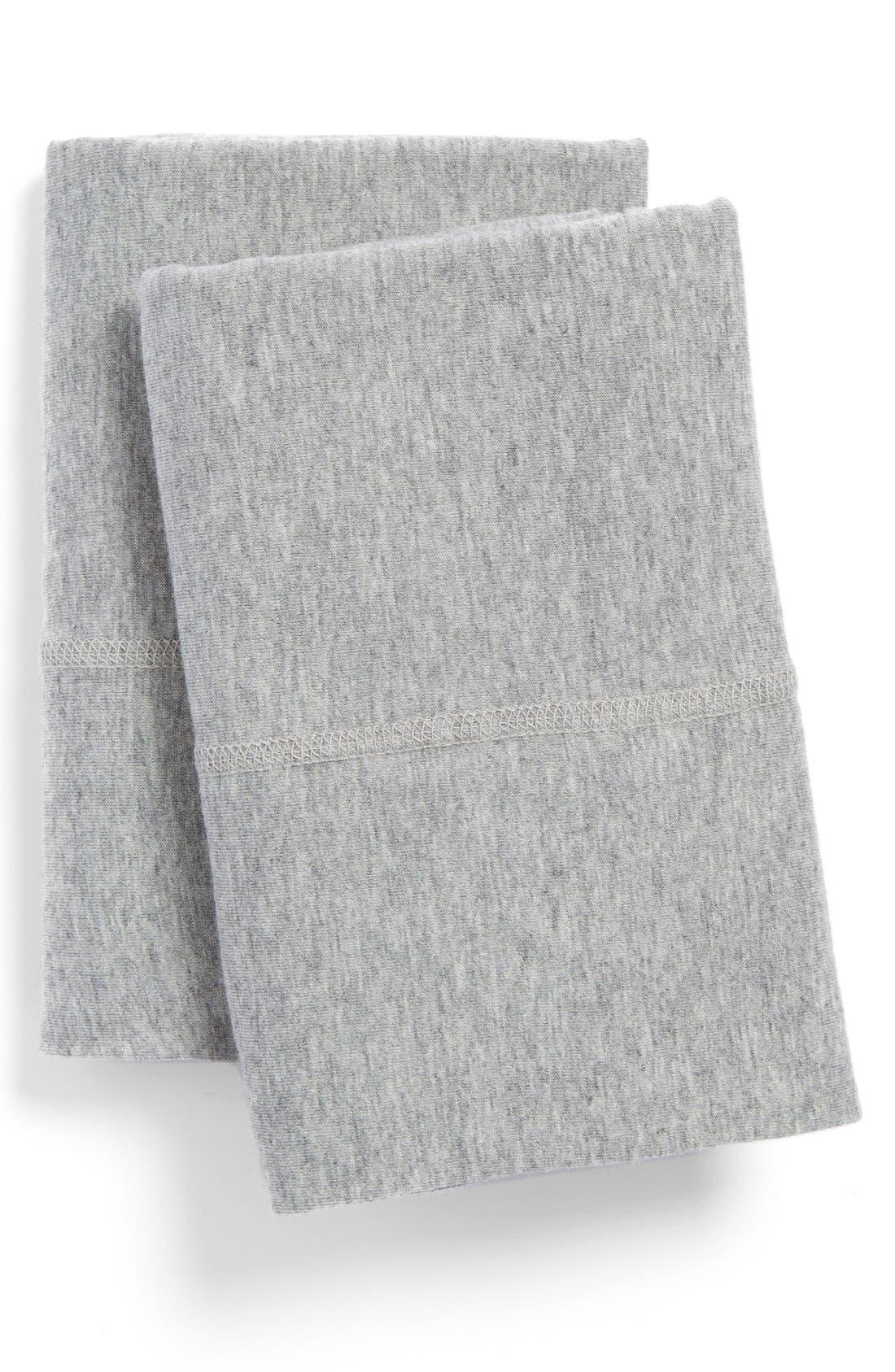 Modern Cotton Collection Cotton & Modal Pillowcases,                             Main thumbnail 1, color,                             Grey