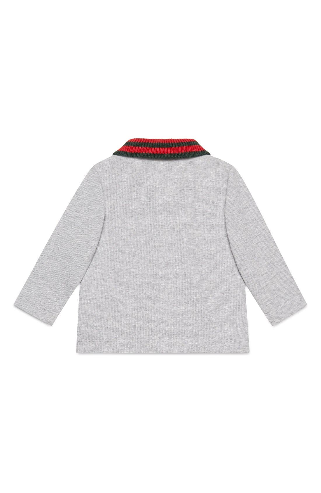 Alternate Image 2  - Gucci Stripe Collar Long Sleeve Polo (Baby Boys & Toddler Boys)