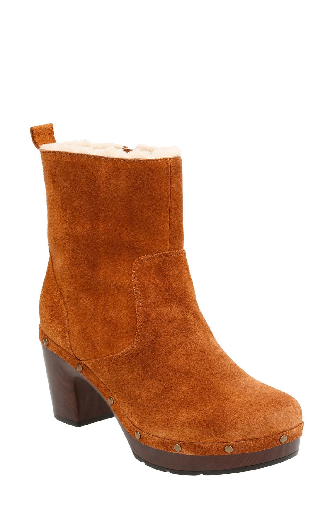 'Ledella Abby' Bootie,                         Main,                         color, Tan Suede