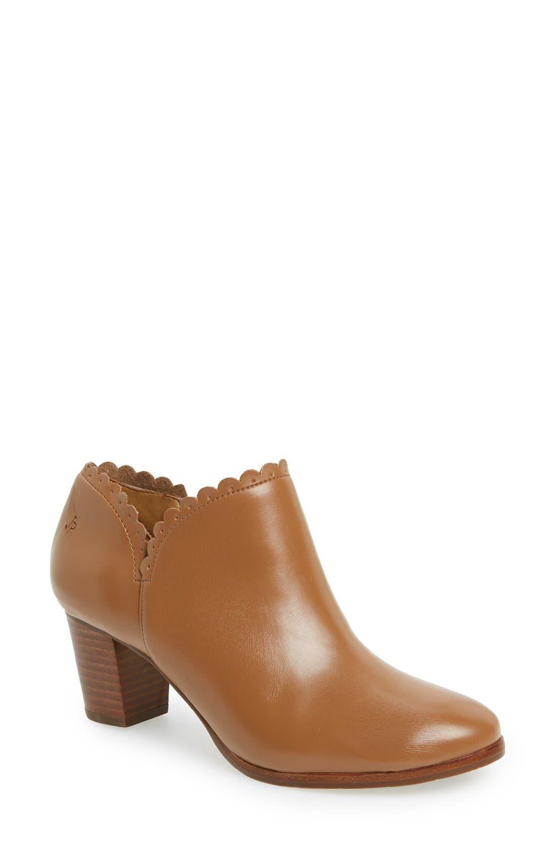 'Marianne' Bootie,                         Main,                         color, Cognac Leather