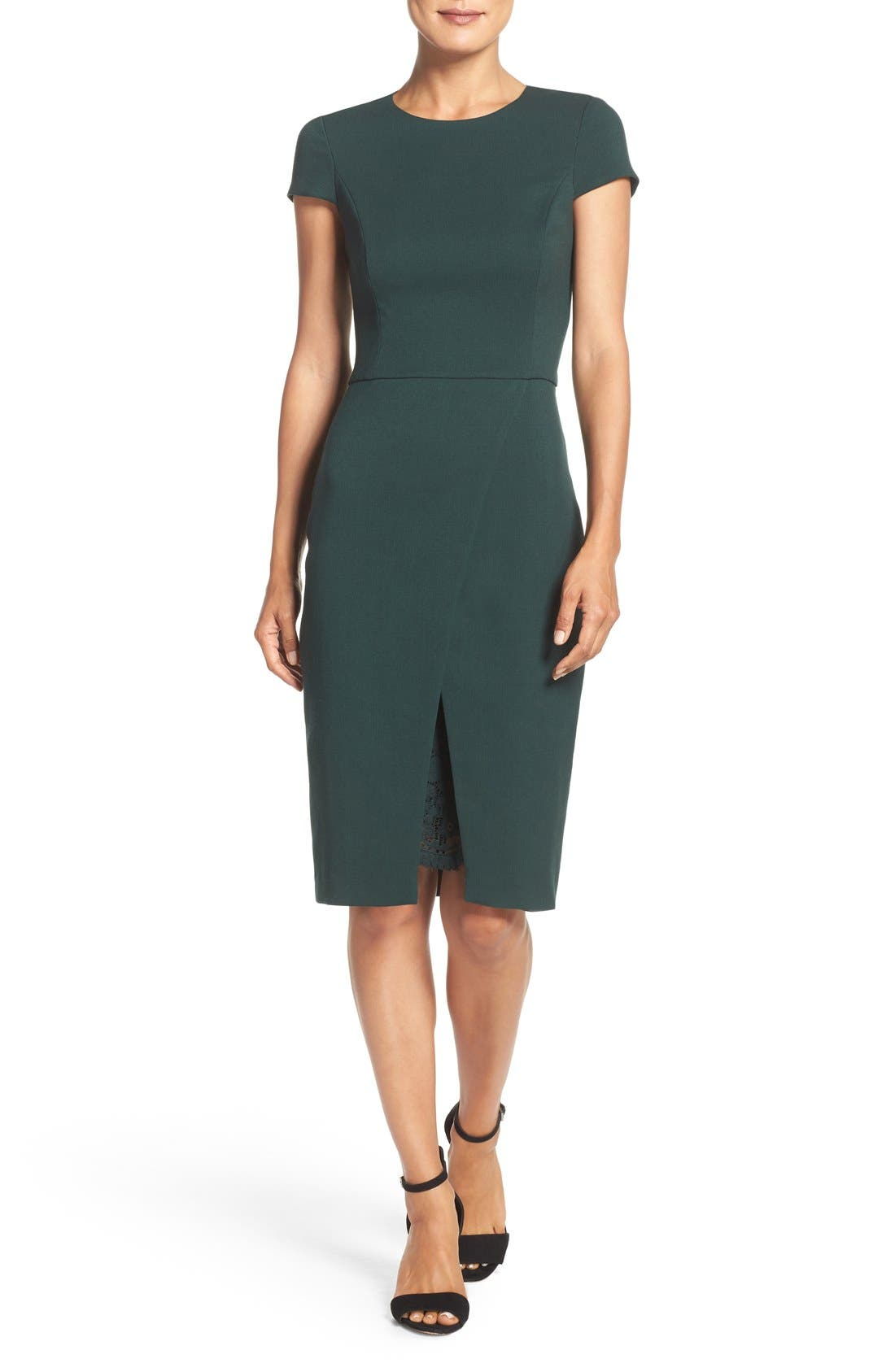Main Image - Vince Camuto Midi Sheath Dress (Regular & Petite)