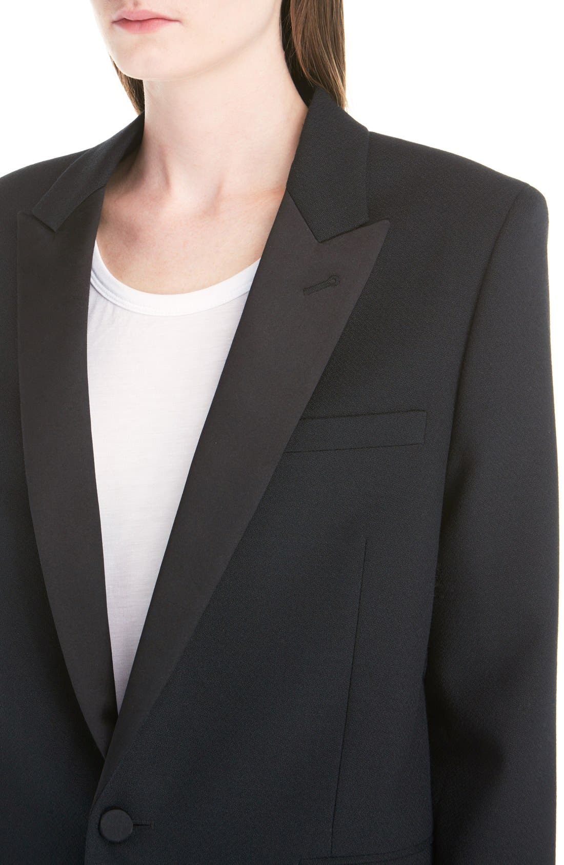 Alternate Image 5  - Saint Laurent One-Button Tuxedo Jacket