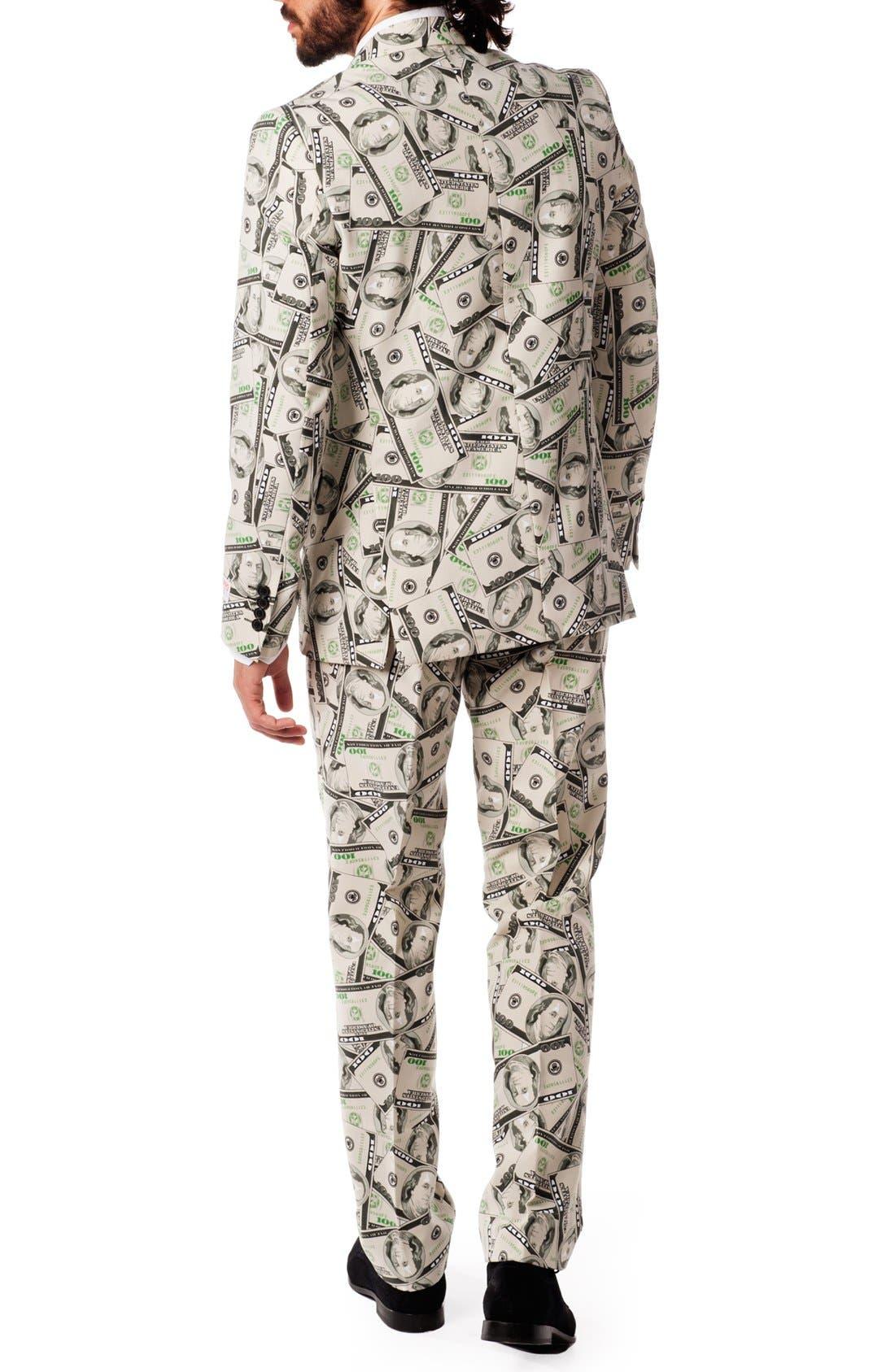 Alternate Image 2  - OppoSuits 'Cashanova' Trim Fit Suit with Tie
