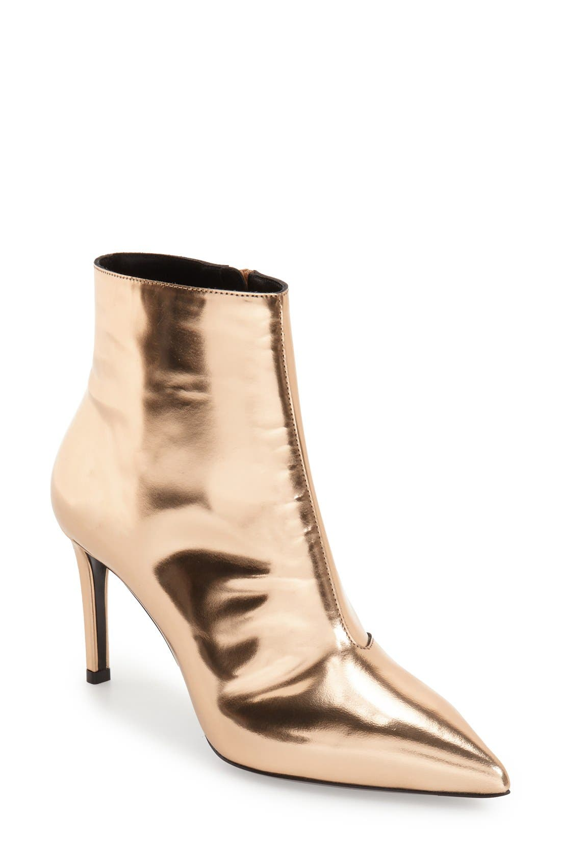 Alternate Image 1 Selected - Balenciaga 'All Time Mirror Effect' Pointy Toe Bootie (Women)