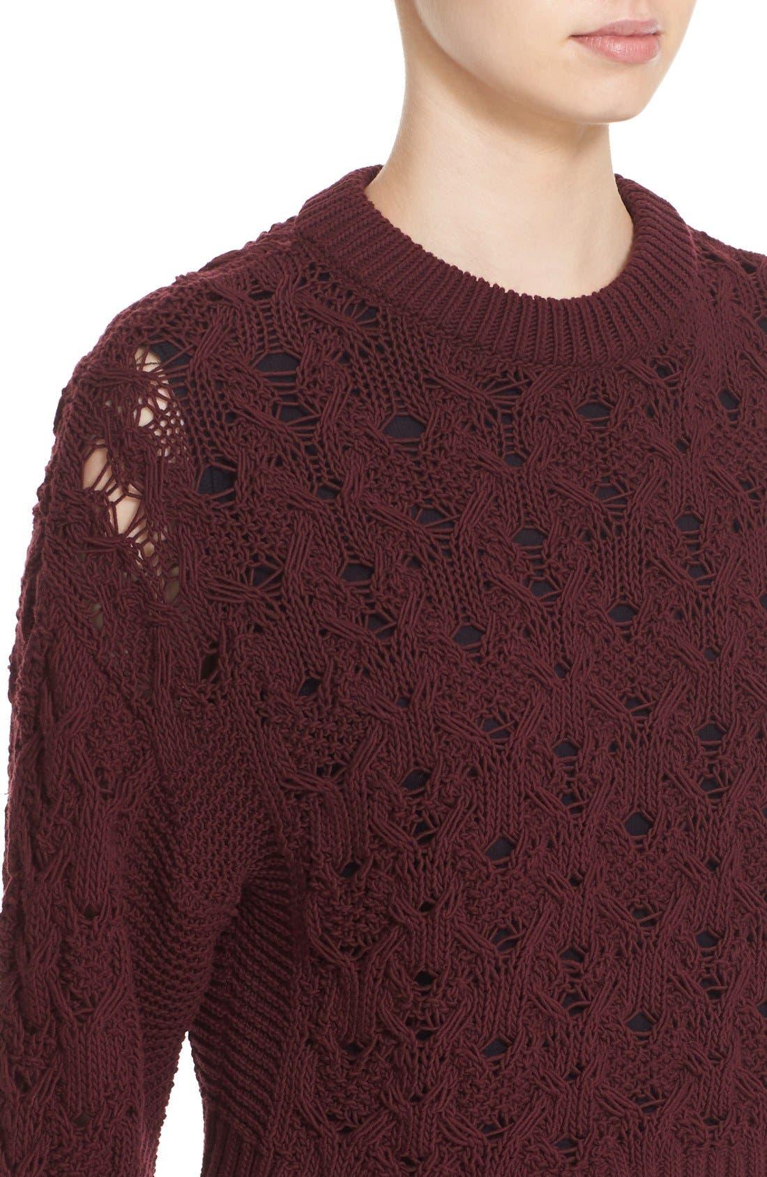 Alternate Image 5  - Public School Cotton Blend Cable Knit Sweater