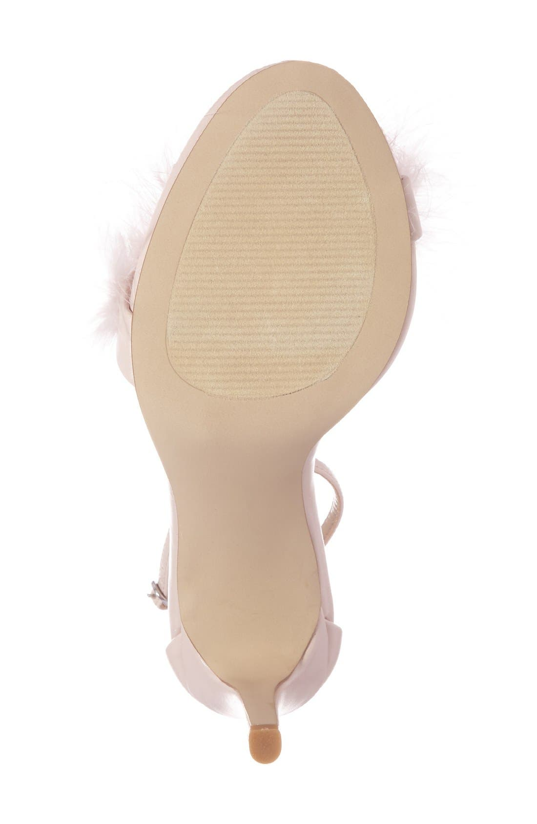 Alternate Image 4  - Steve Madden 'Scarlett' Marabou Evening Sandal (Women)