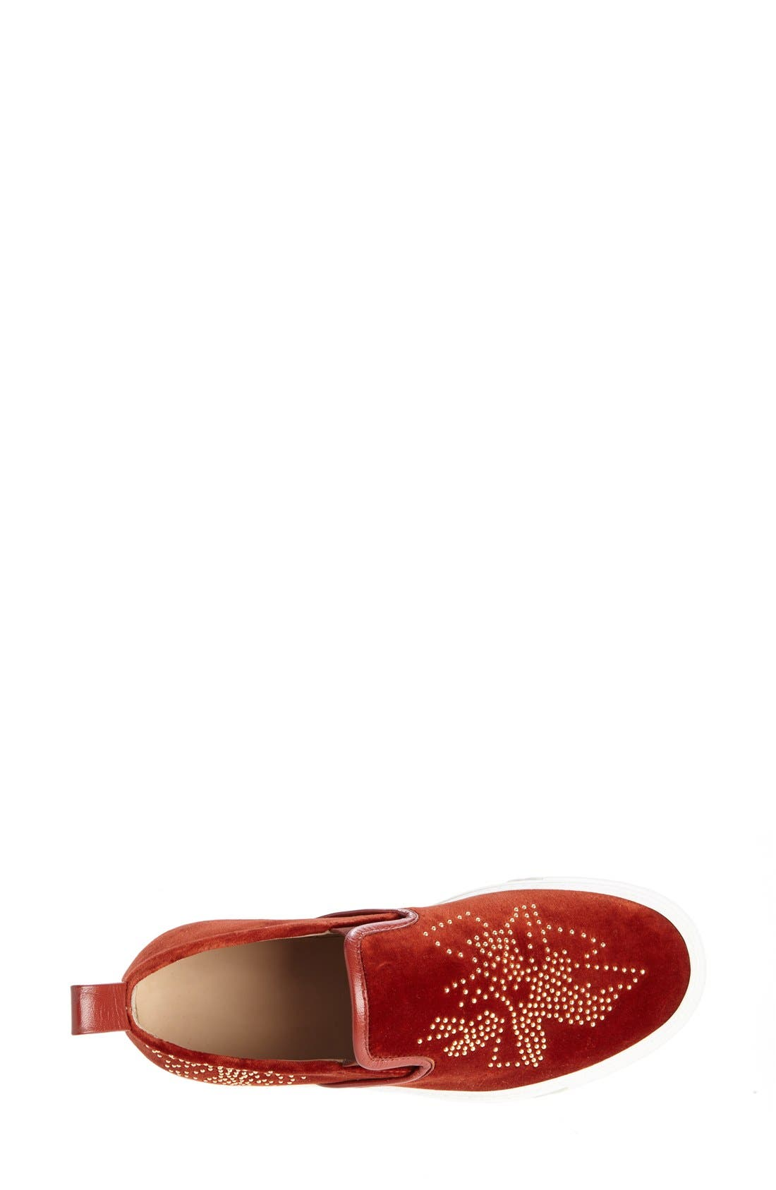Alternate Image 4  - Chloé 'Ivy' Studded Slip-On Sneaker (Women)
