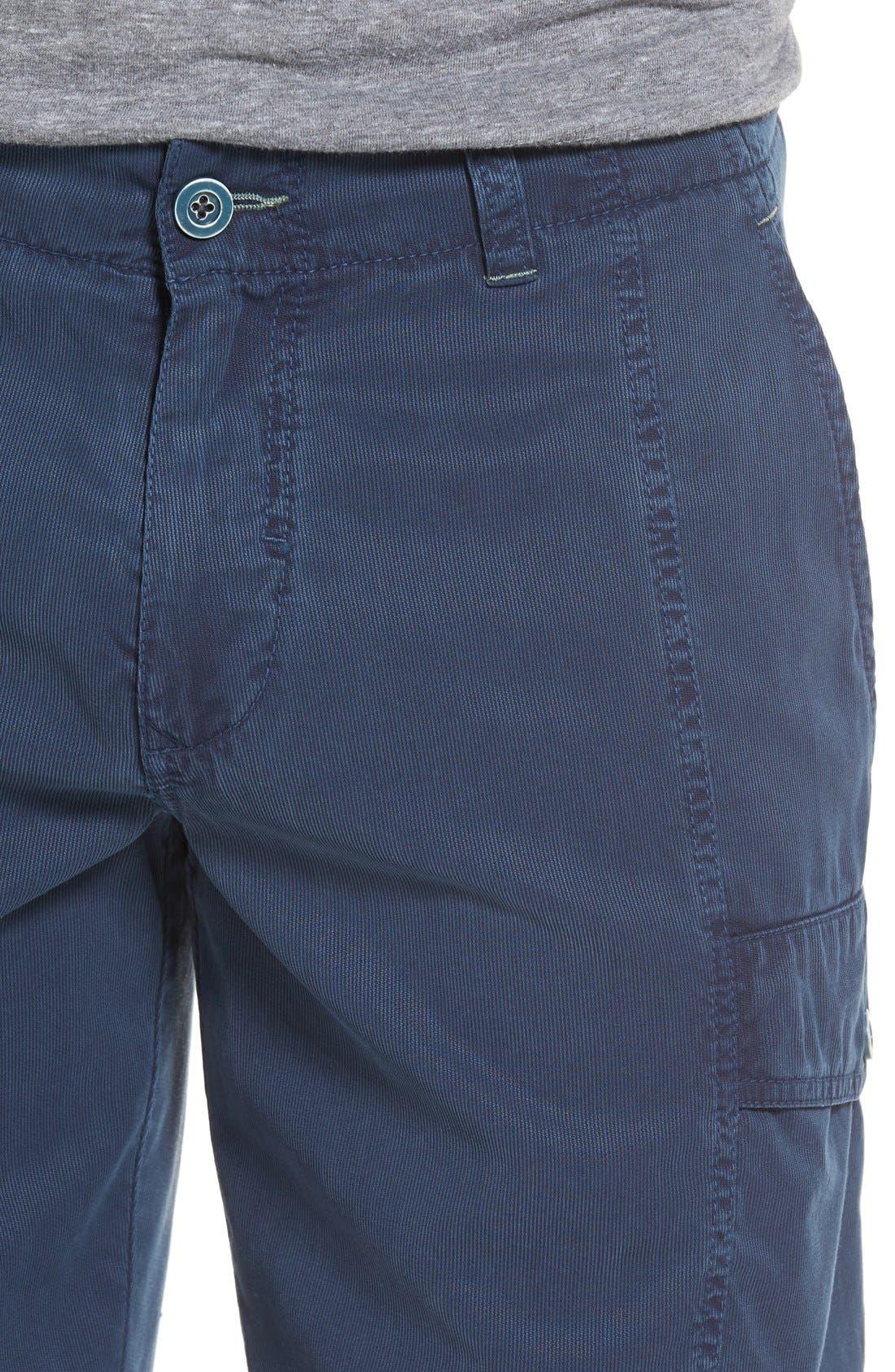 'Beachfront Kihei' Cargo Shorts,                             Alternate thumbnail 4, color,                             Navy