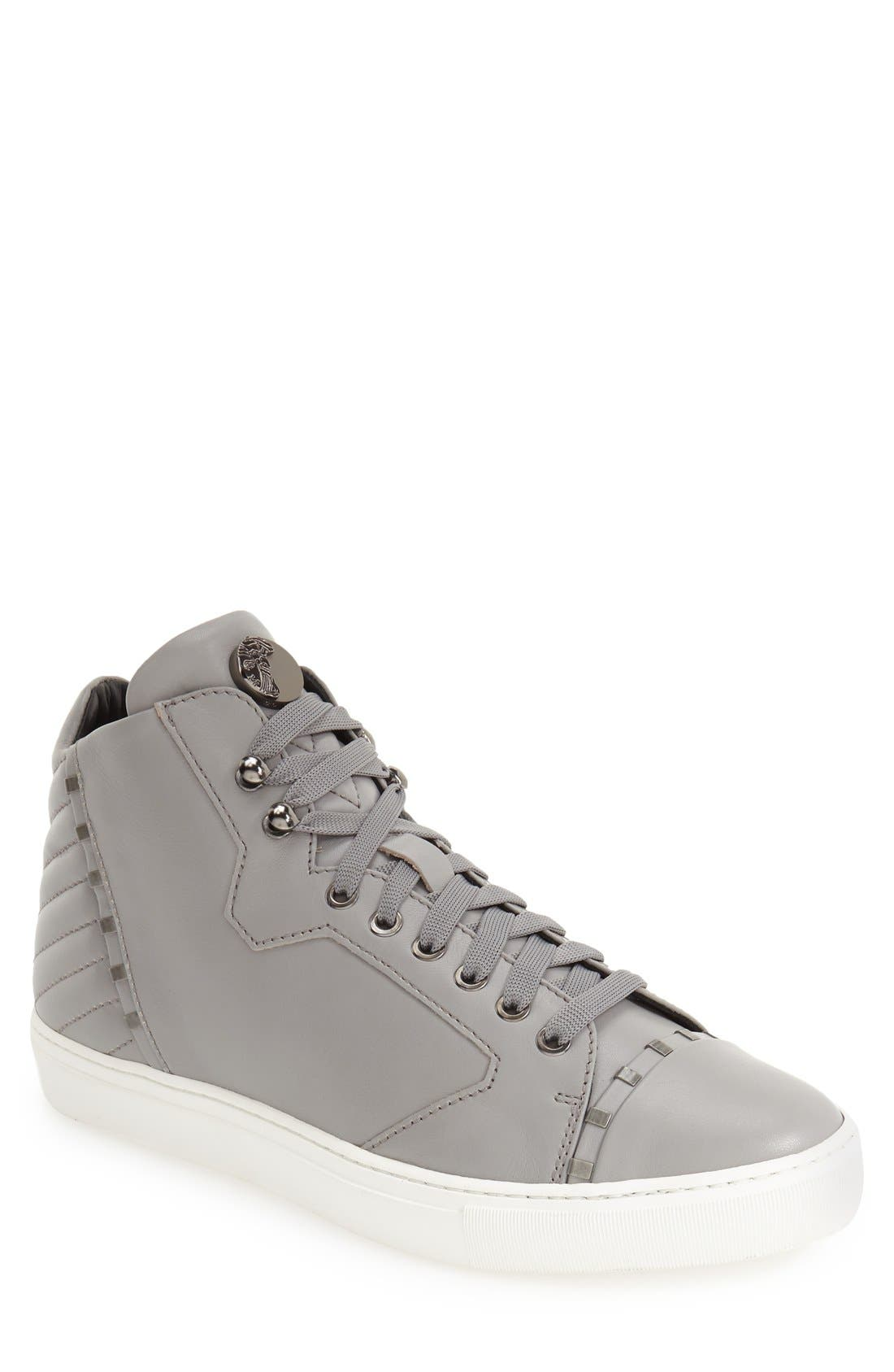 Alternate Image 1 Selected - Versace Collection Leather High Top Sneaker (Men)