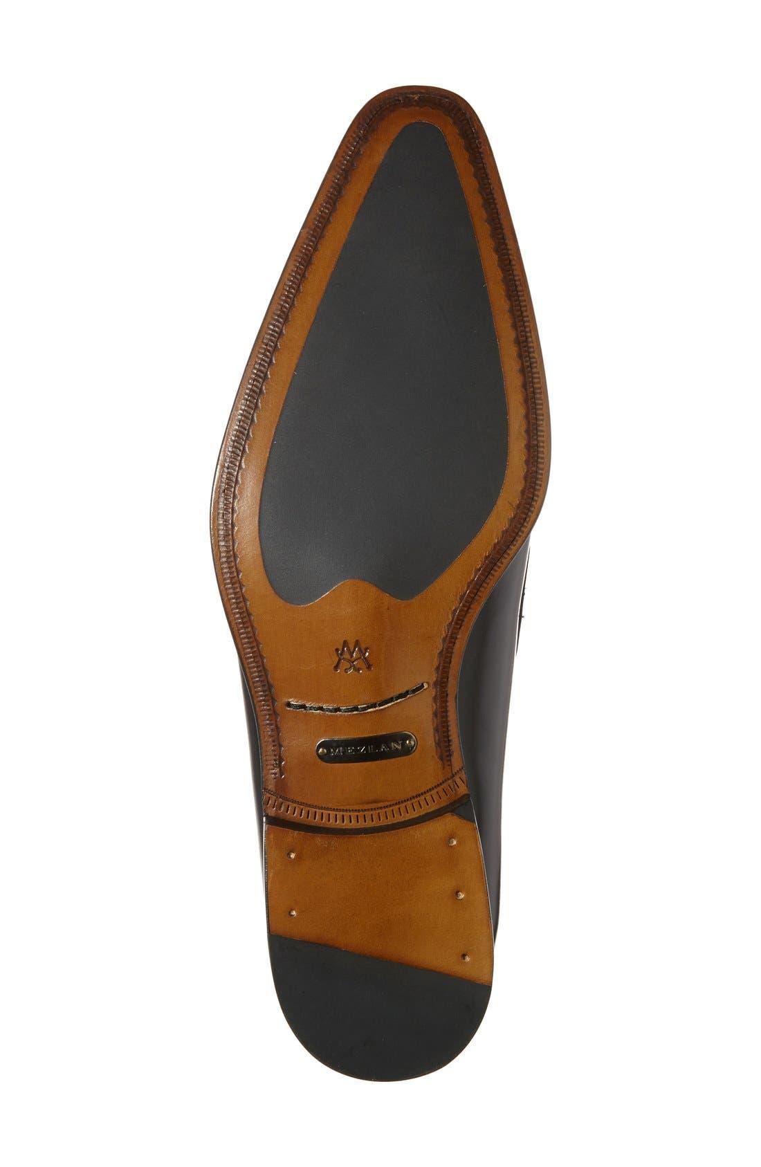 'Doria' Venetian Loafer,                             Alternate thumbnail 4, color,                             Black