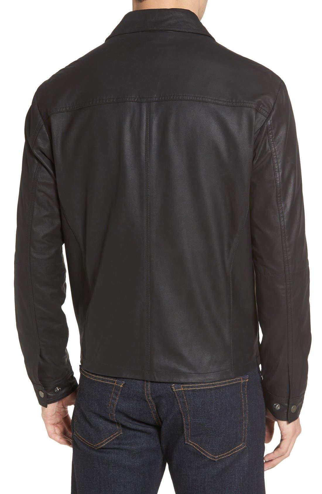 MissaniLe CollezioniLambskin Leather Jacket,                             Alternate thumbnail 2, color,                             Black
