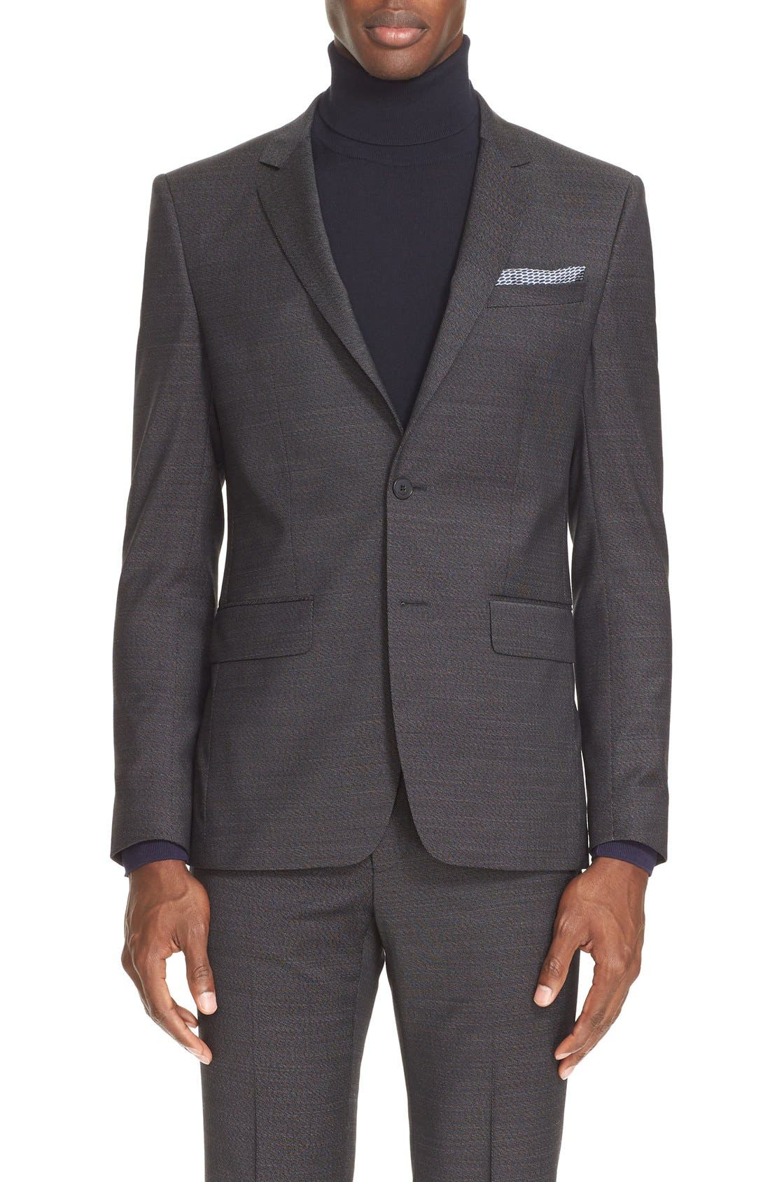 Alternate Image 5  - Givenchy Extra Trim Fit Textured Wool Suit