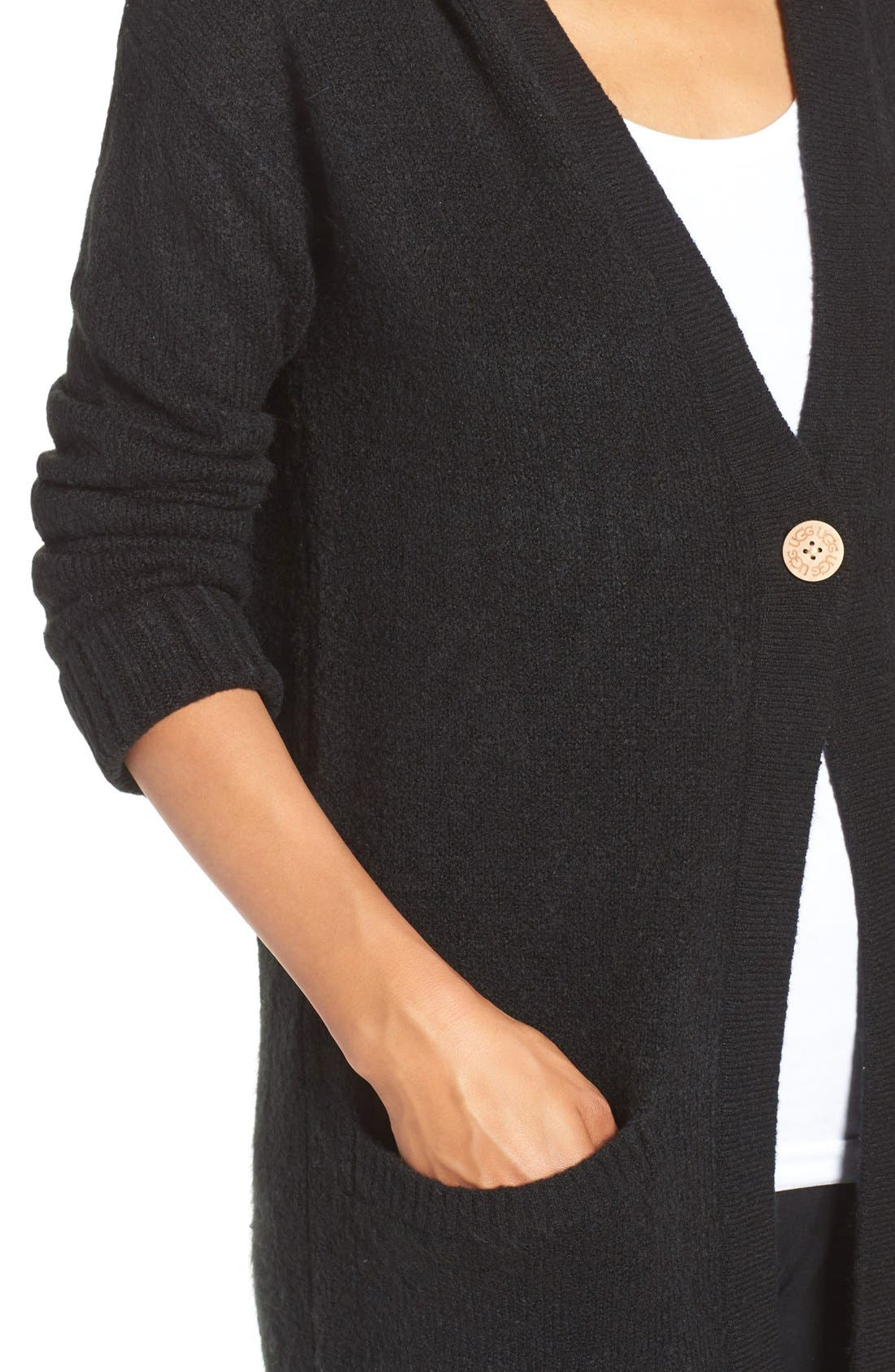 Alternate Image 4  - UGG® 'Judith' Hooded Knit Cardigan