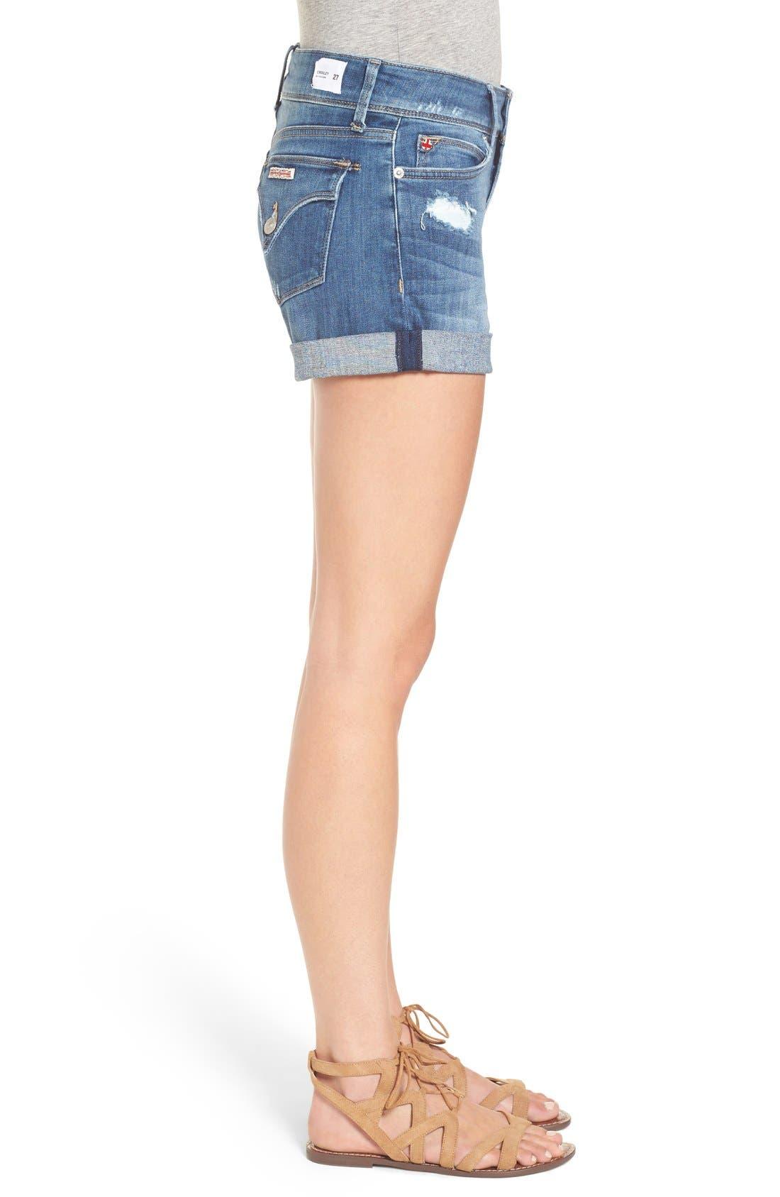 Alternate Image 3  - Hudson Jeans 'Croxley' Cuffed Denim Shorts (Paramour)