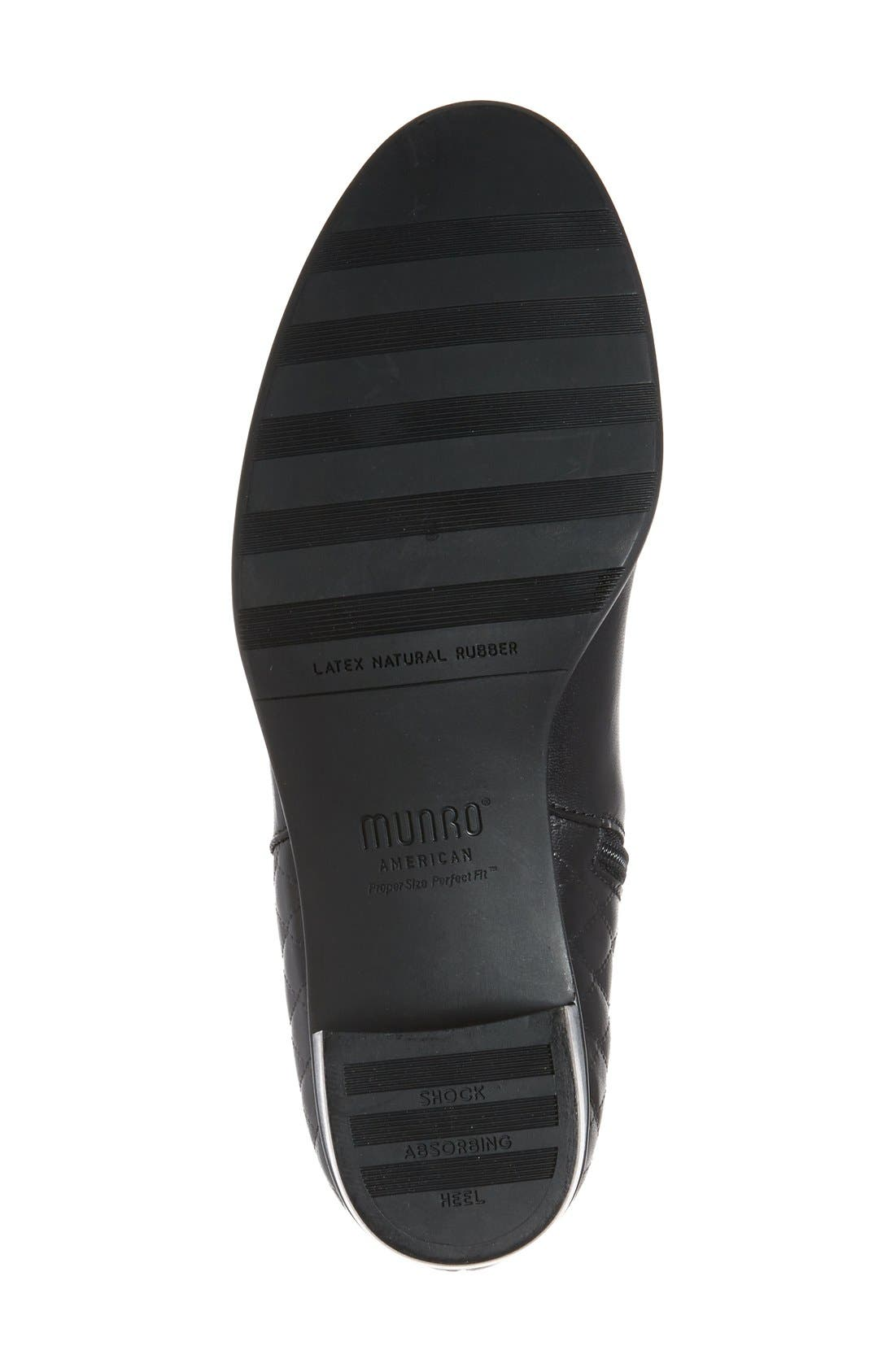 'Jolynn' Bootie,                             Alternate thumbnail 4, color,                             Black Quilted Leather