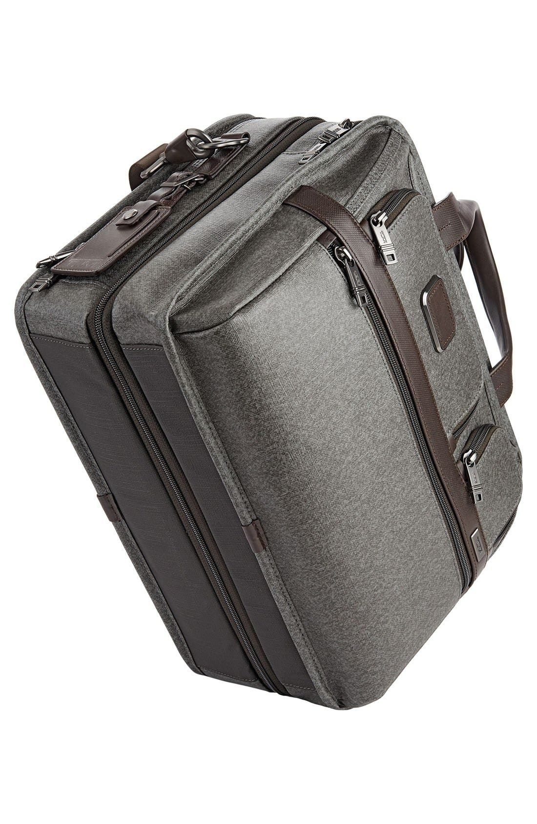 'Alpha 2' Expandable Briefcase,                             Alternate thumbnail 6, color,                             Earl Grey