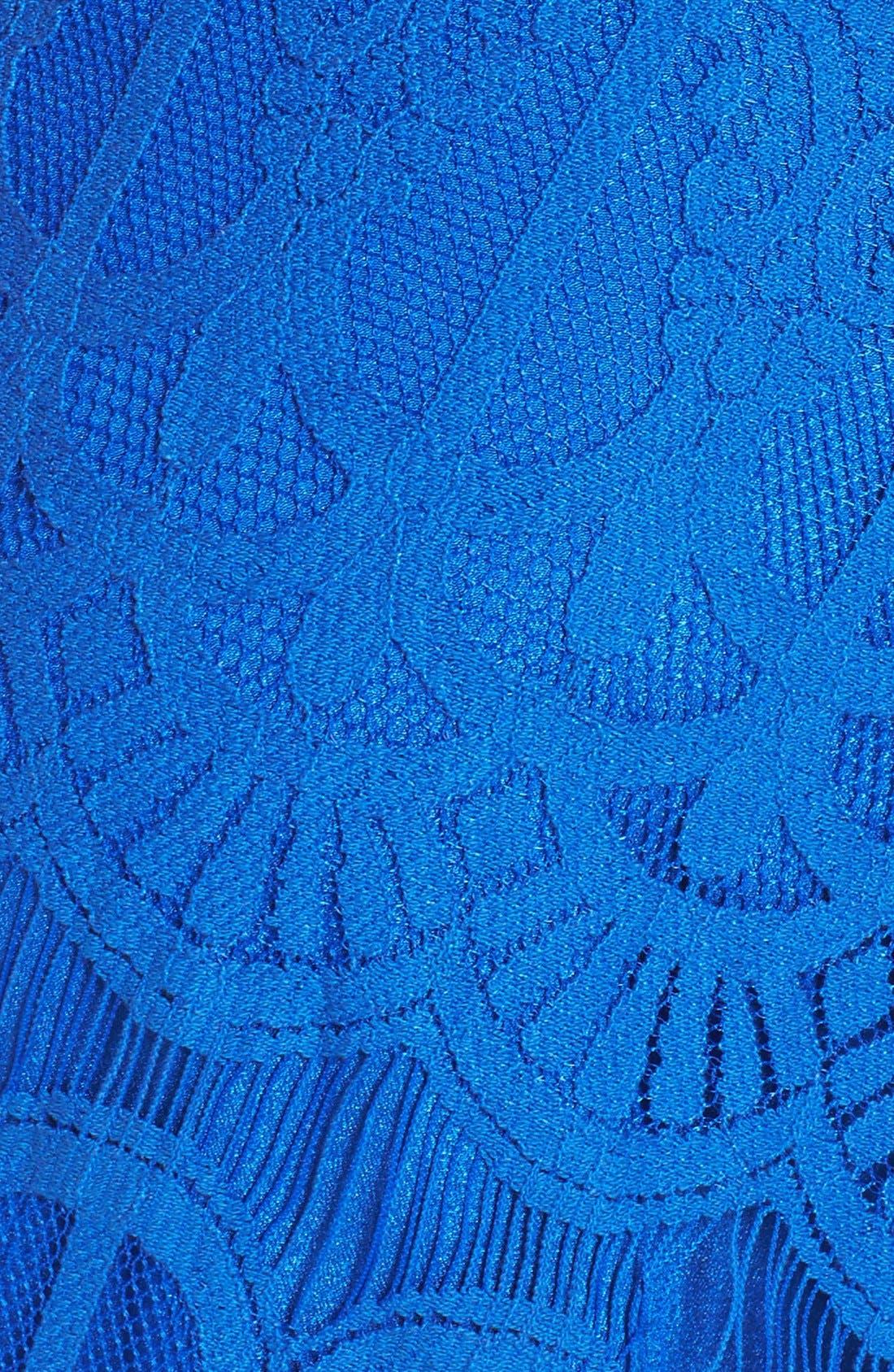 Strapless Lace Dress,                             Alternate thumbnail 6, color,                             Cobalt