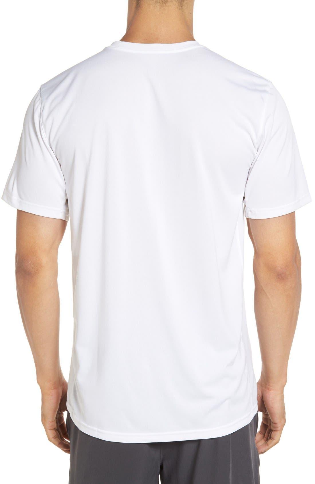 'Legend 2.0' Dri-FIT Training T-Shirt,                             Alternate thumbnail 2, color,                             White/ Black/ Black