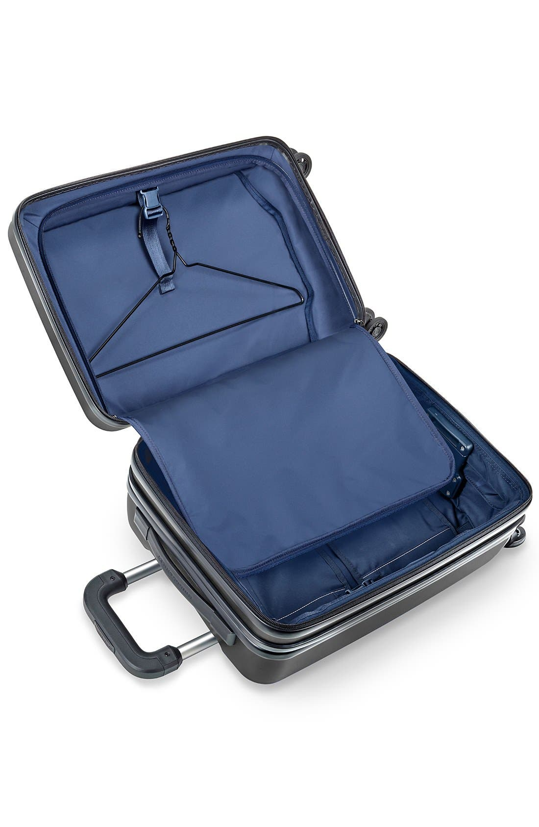 'Sympatico' Expandable Wheeled Carry-On,                             Alternate thumbnail 3, color,                             Black