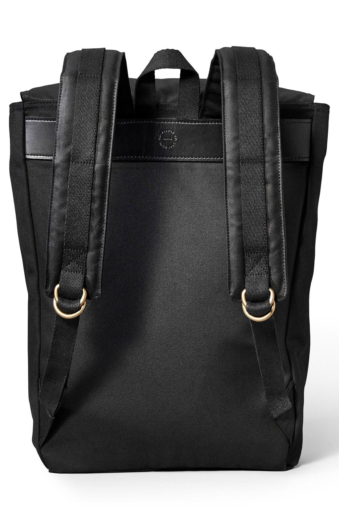 'Ranger' Canvas Backpack,                             Alternate thumbnail 2, color,                             Black