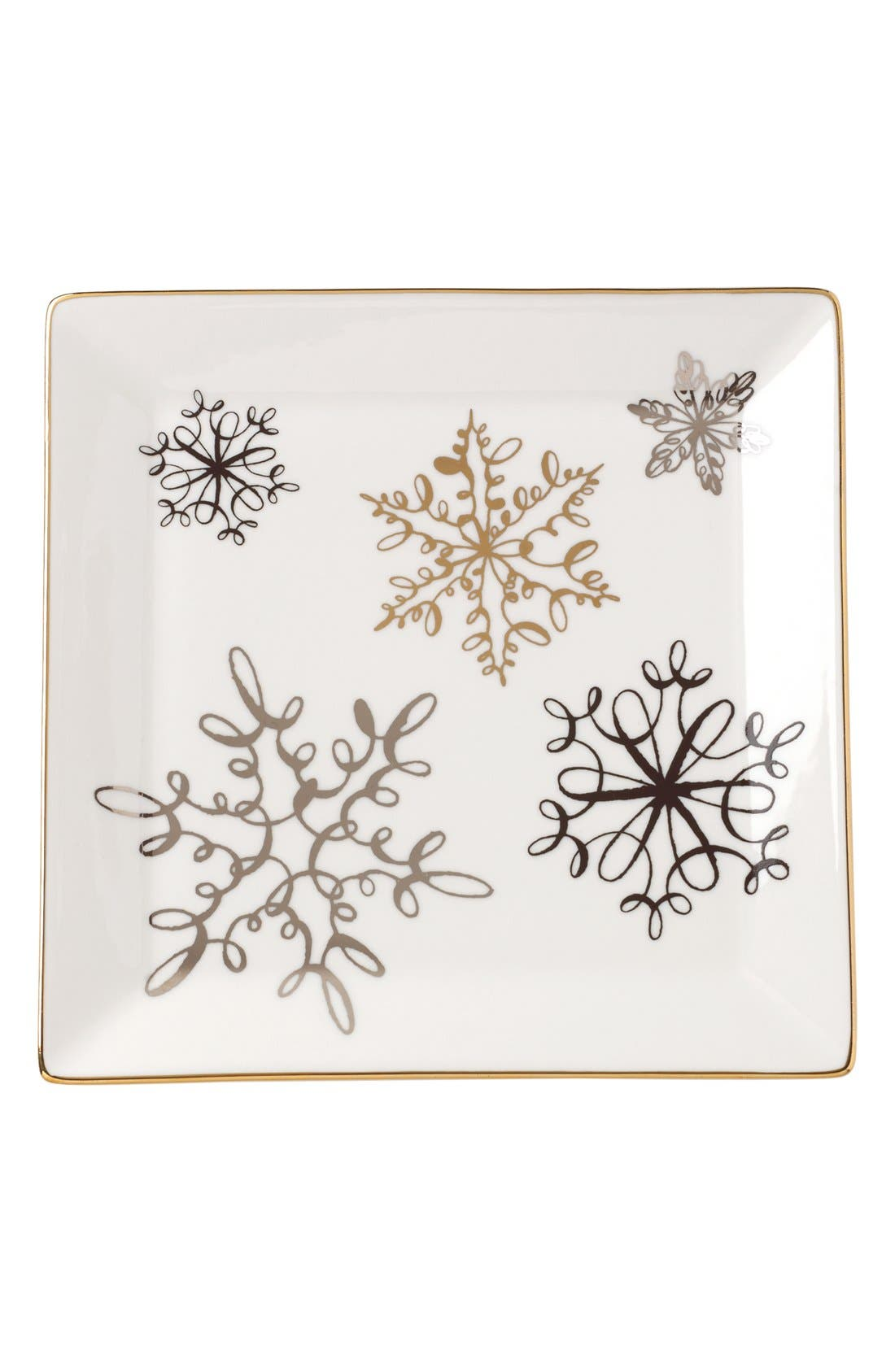 Alternate Image 1 Selected - kate spade new york snowflake decorative porcelain tray
