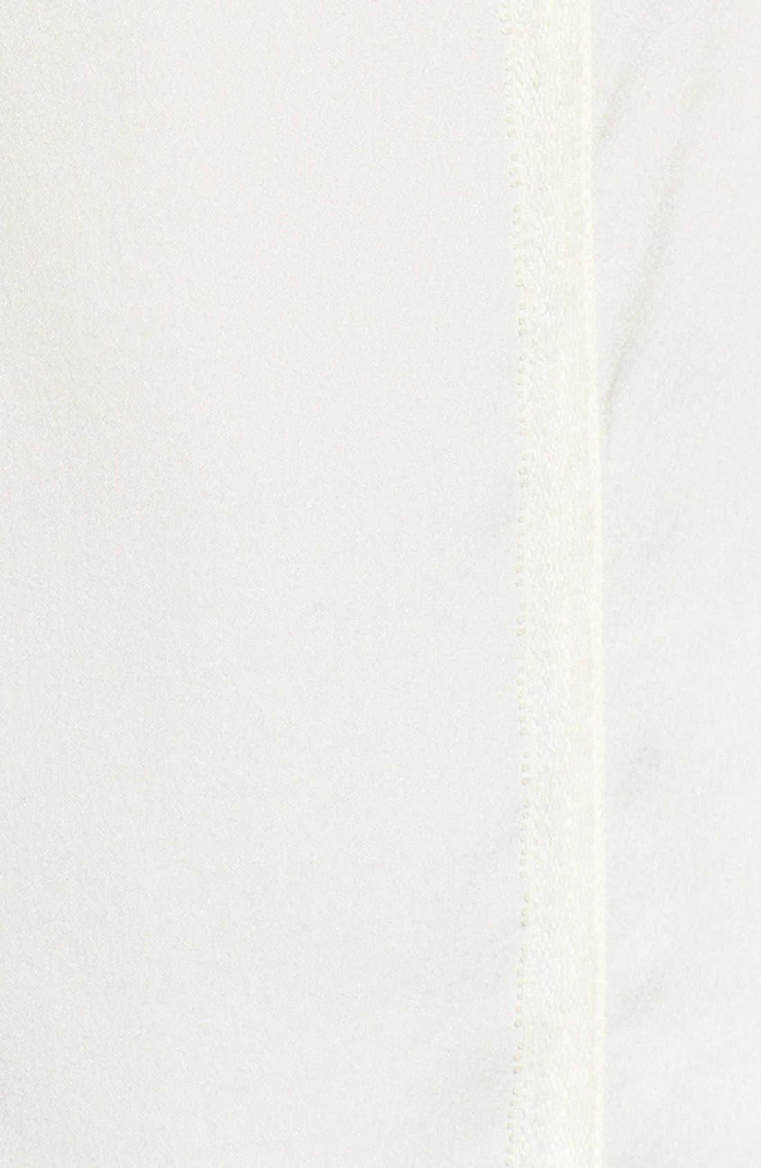 'Josette' Lace Trim Silk Blouse,                             Alternate thumbnail 5, color,                             Antique