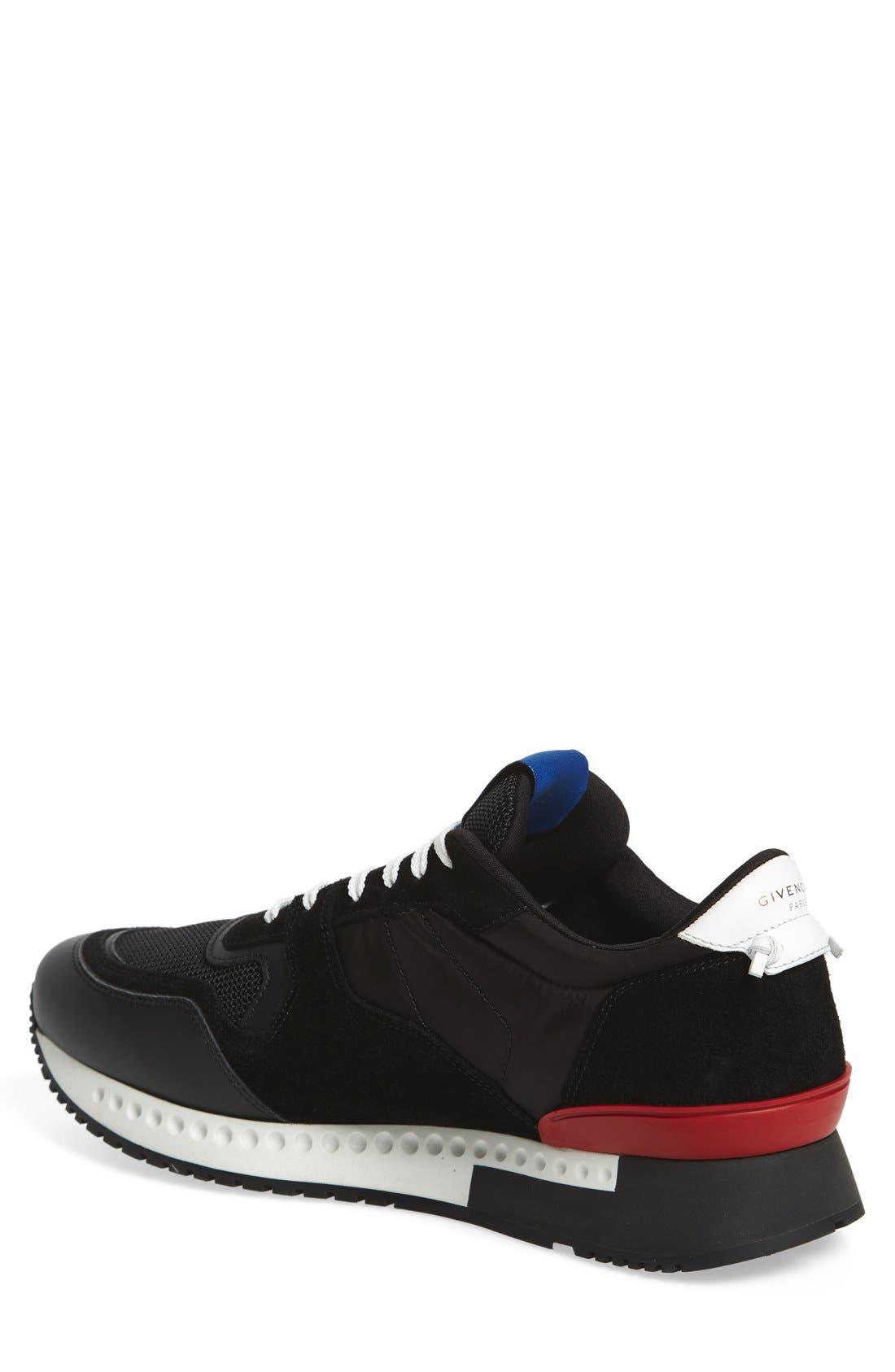 'Active Runner' Sneaker,                             Alternate thumbnail 2, color,                             Black Nylon/ Suede