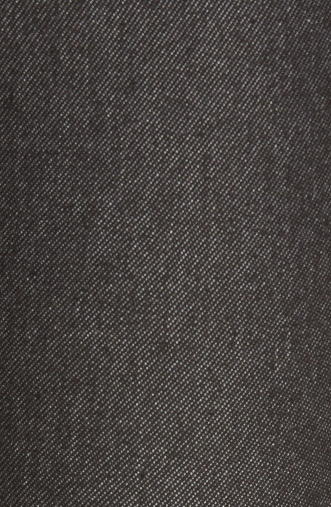 Denim Leggings,                             Alternate thumbnail 5, color,                             Black