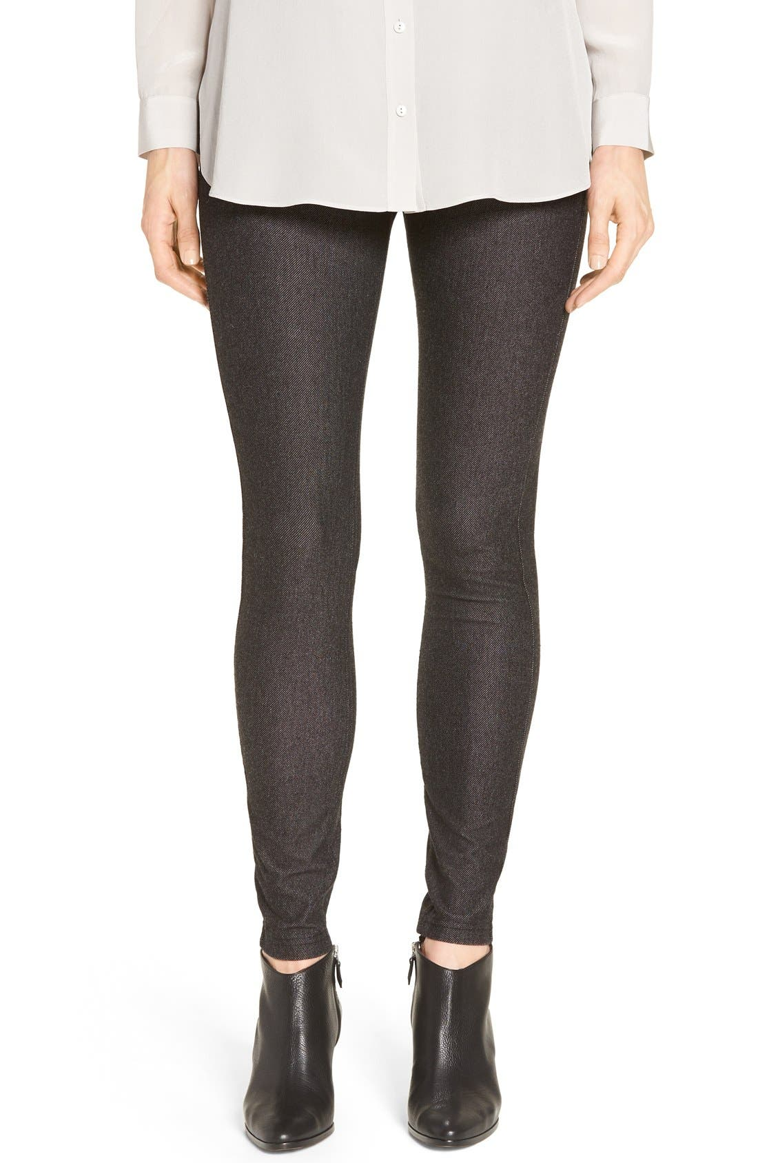 Denim Leggings,                         Main,                         color, Black