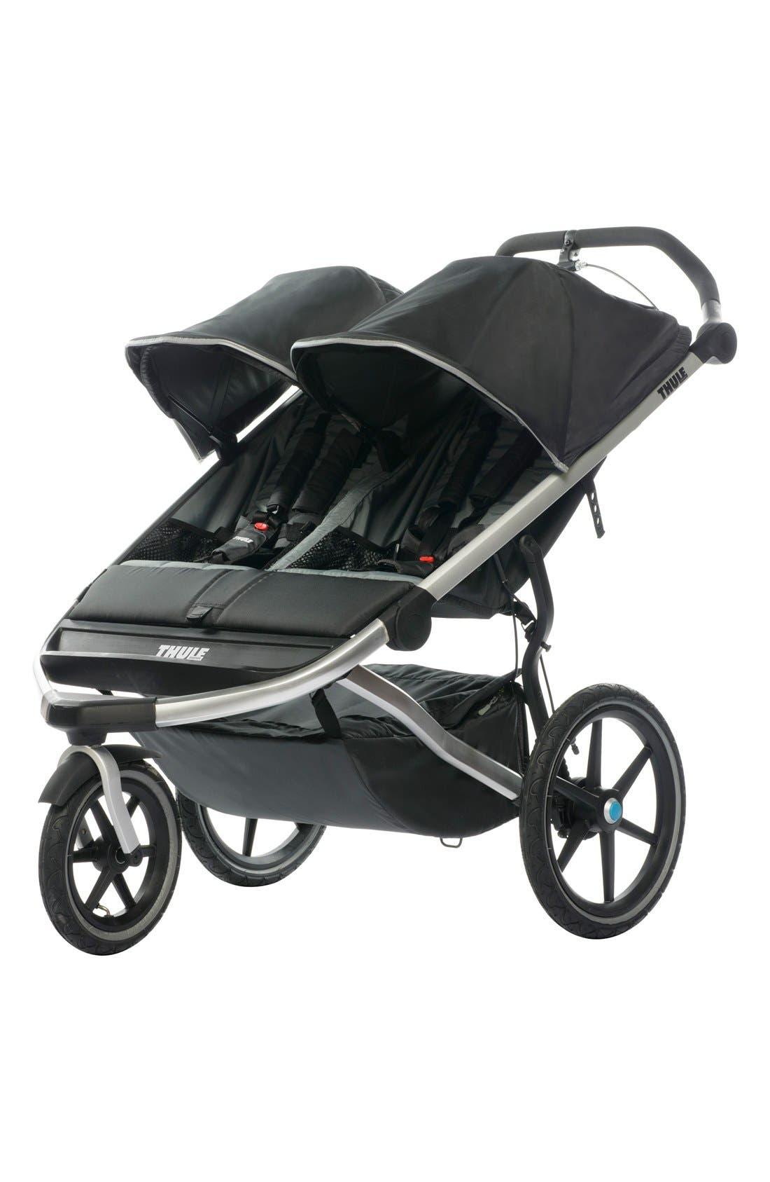 'Urban Glide 2' Double Jogging Stroller,                         Main,                         color, Dark Shadow