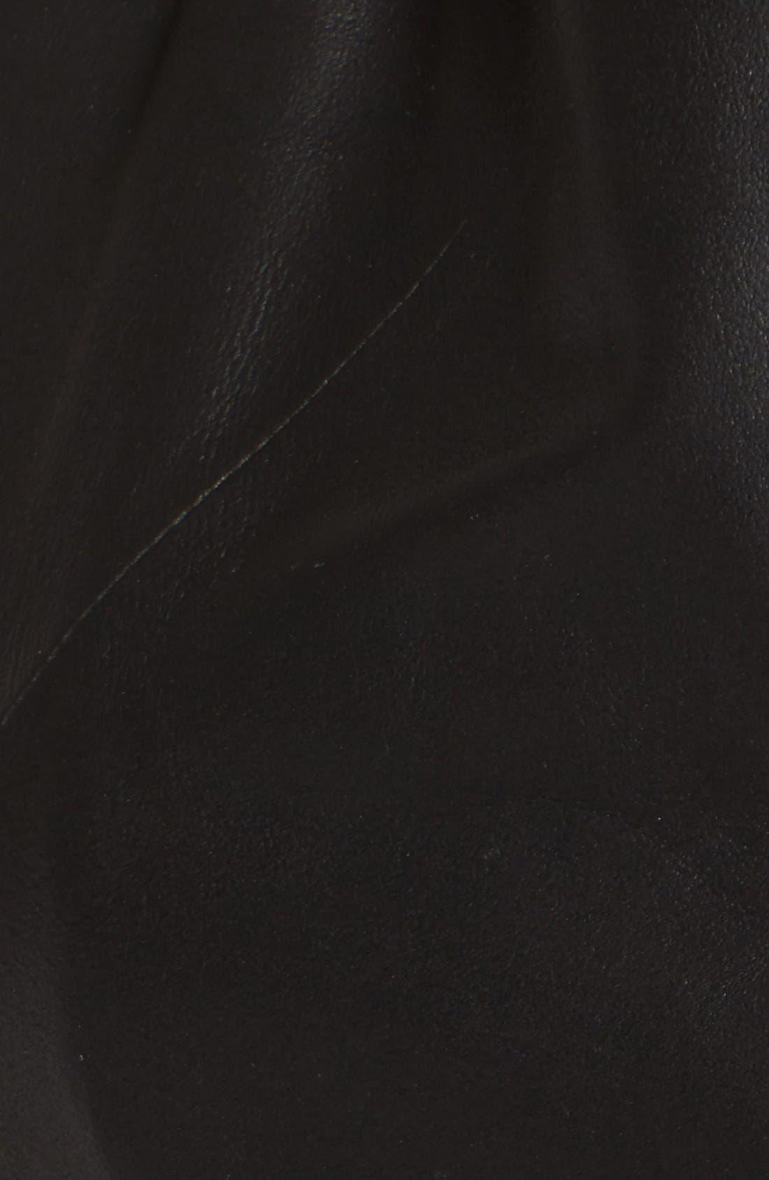 Alternate Image 5  - Via Spiga Asymmetrical Leather Jacket