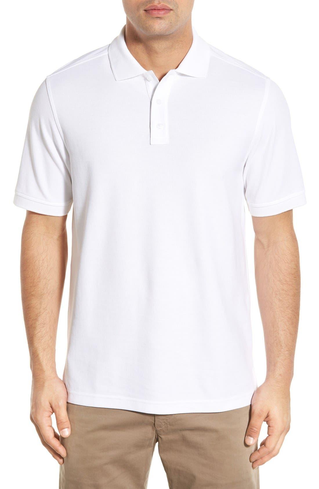 Classic Regular Fit Piqué Polo,                         Main,                         color, White